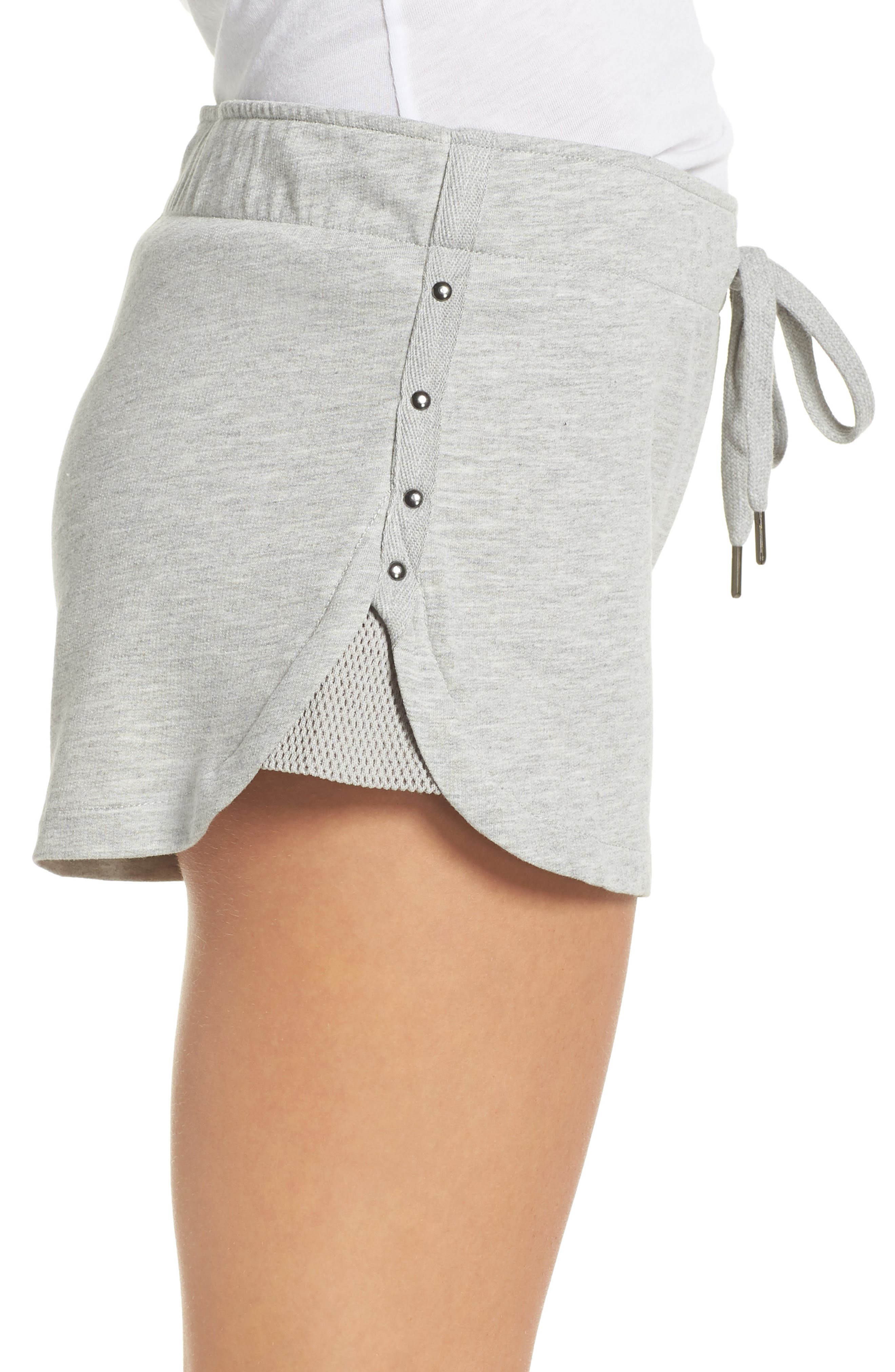 Pajama Shorts,                             Alternate thumbnail 3, color,                             H Grey