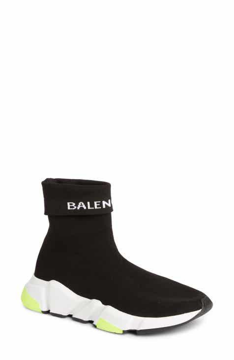 50180ec654d Balenciaga Hi Speed Logo Sock Sneaker (Women)