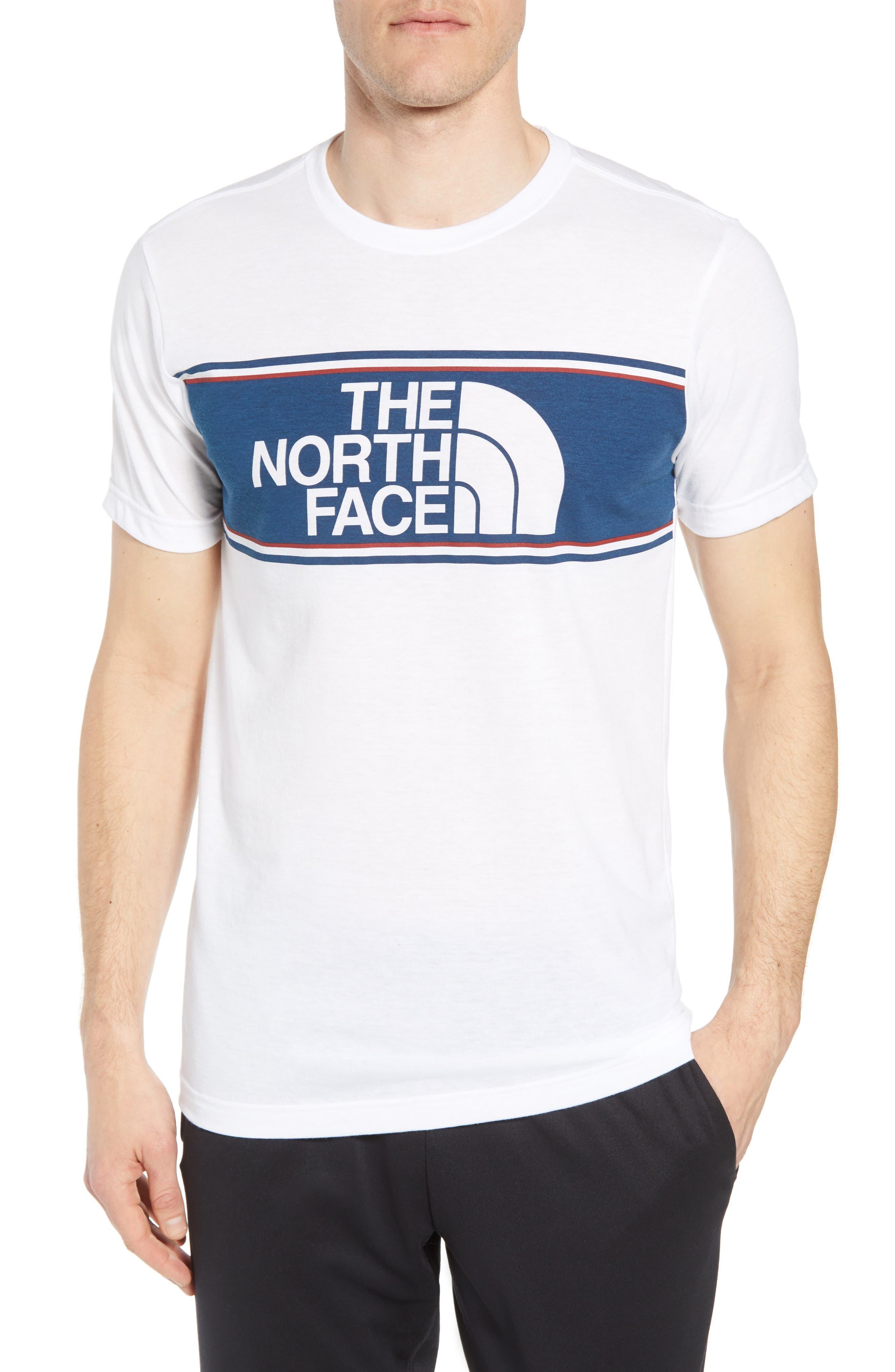 Americana Crewneck T-Shirt,                             Main thumbnail 1, color,                             Tnf White Heather