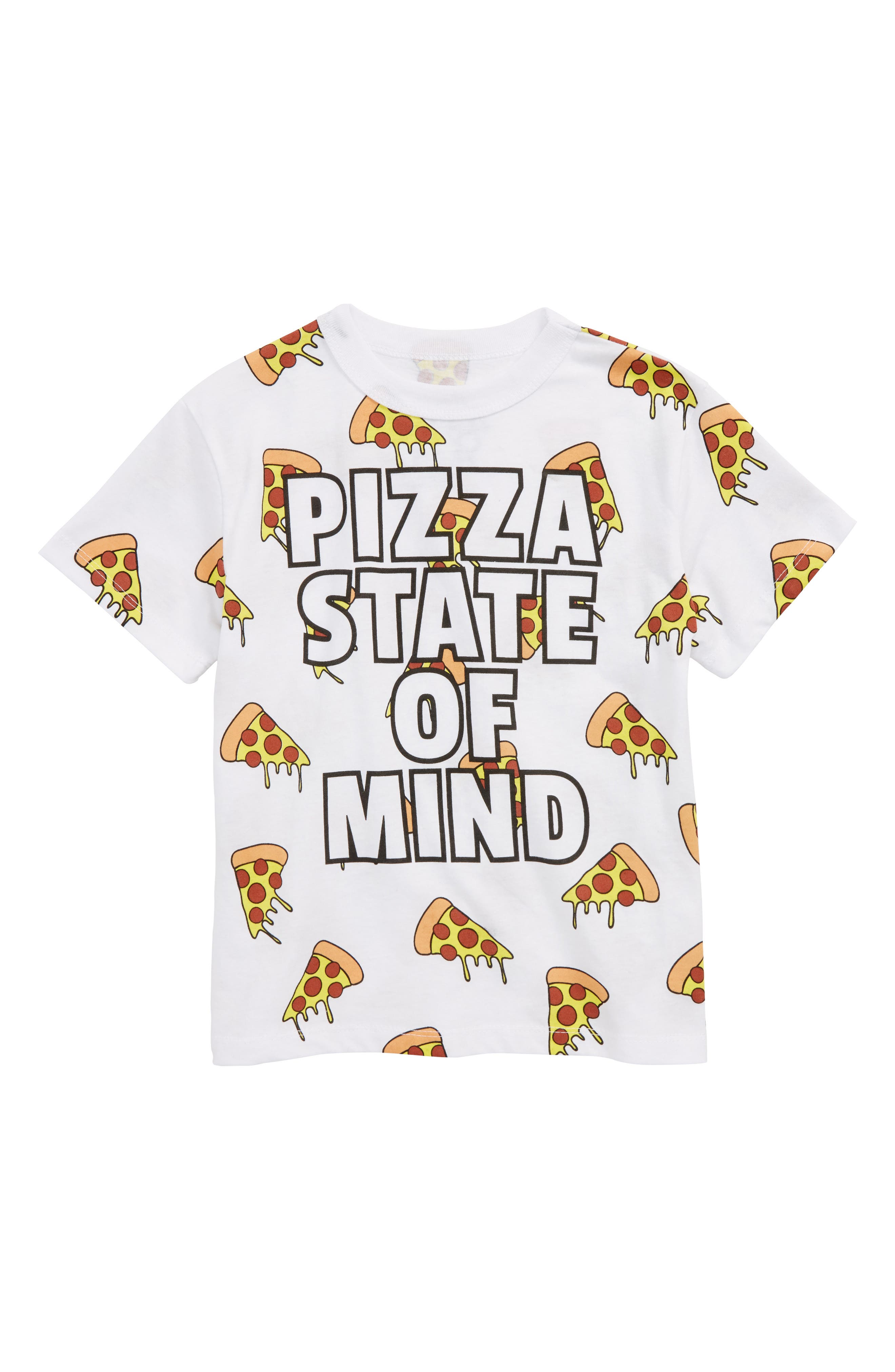 Pizza State of Mind T-Shirt,                             Main thumbnail 1, color,                             White