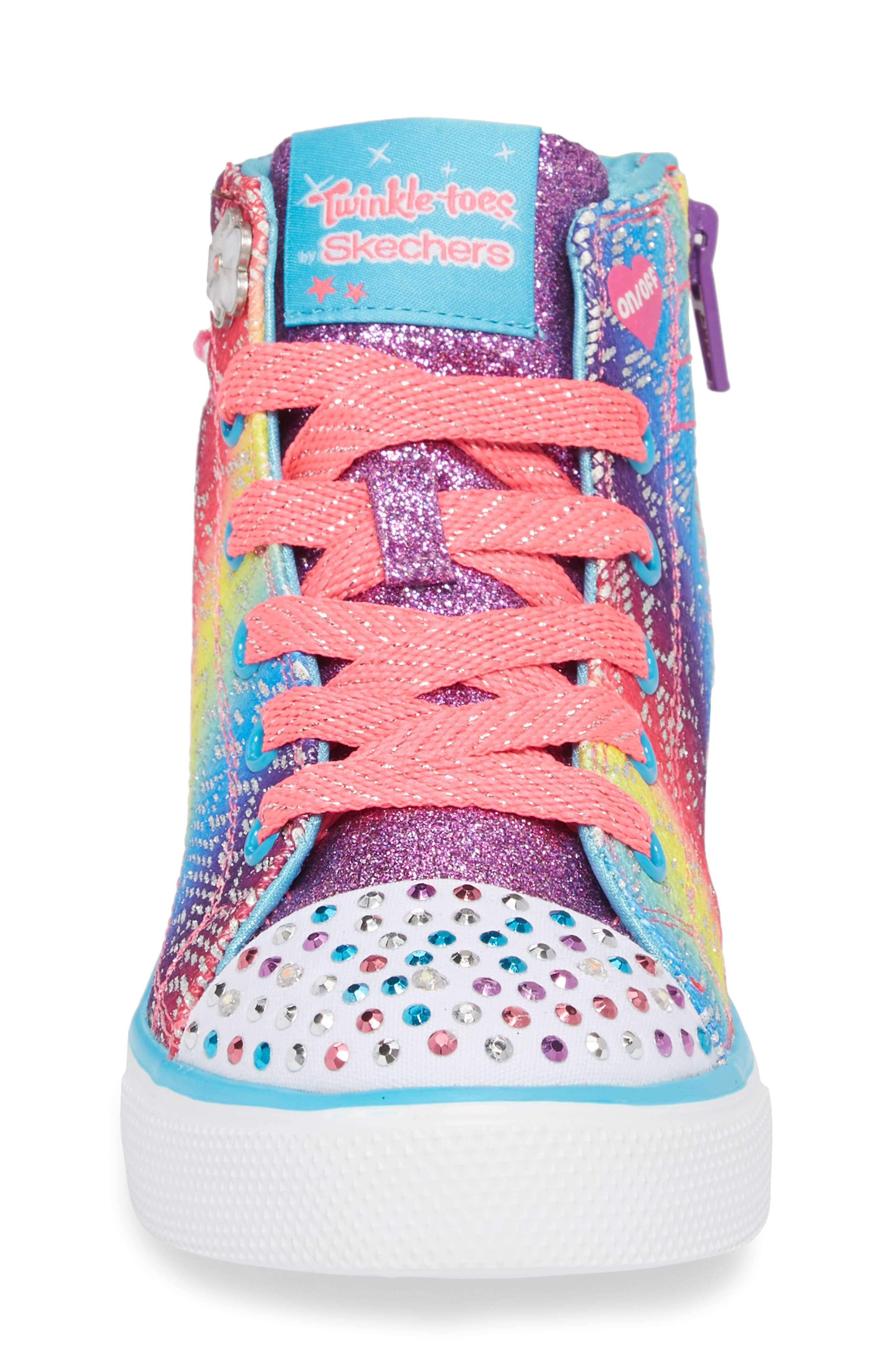Alternate Image 4  - SKECHERS Twinkle Toes Breeze 2.0 Light-Up High Top Sneaker (Toddler, Little Kid & Big Kid)