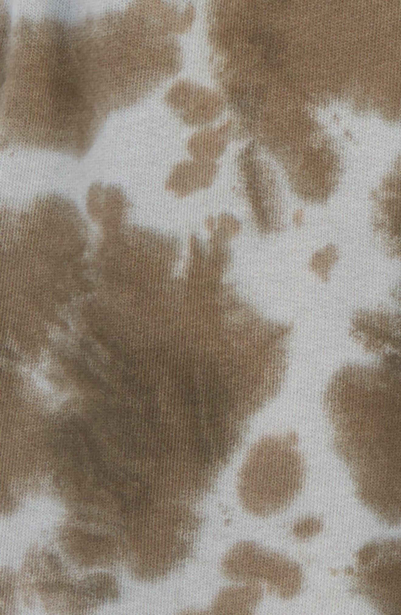 Tie Dye Knit Shorts,                             Alternate thumbnail 2, color,                             Grey Asphalt Tie Dye