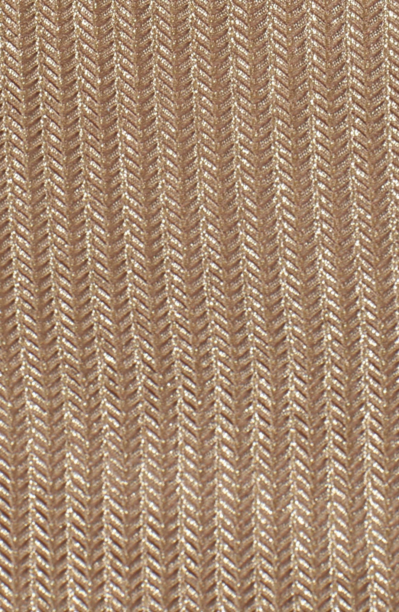 Tie Neck Body-Con Dress,                             Alternate thumbnail 5, color,                             Gold