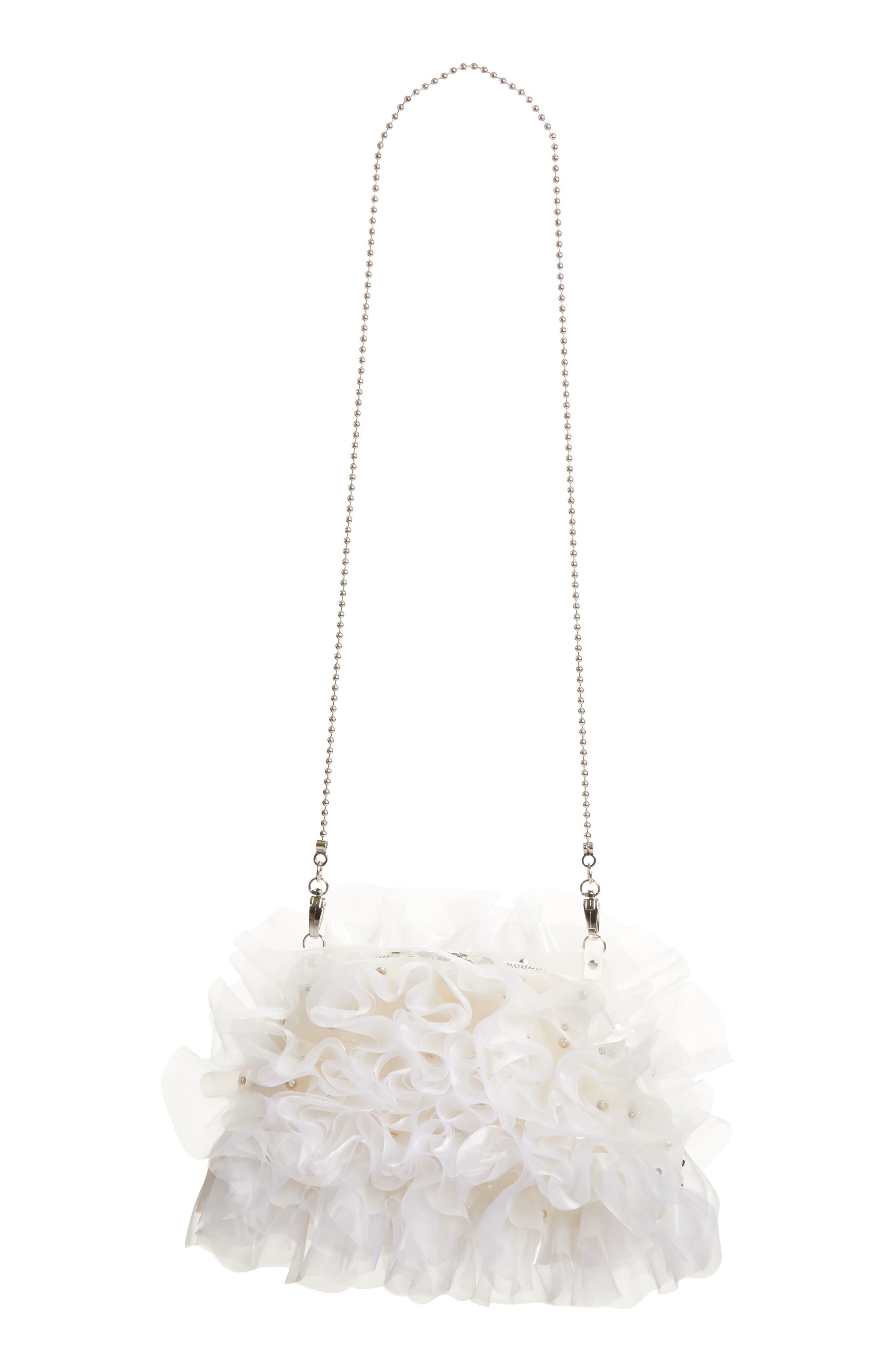noir kei ninomiya 3D Floral Crossbody Clutch