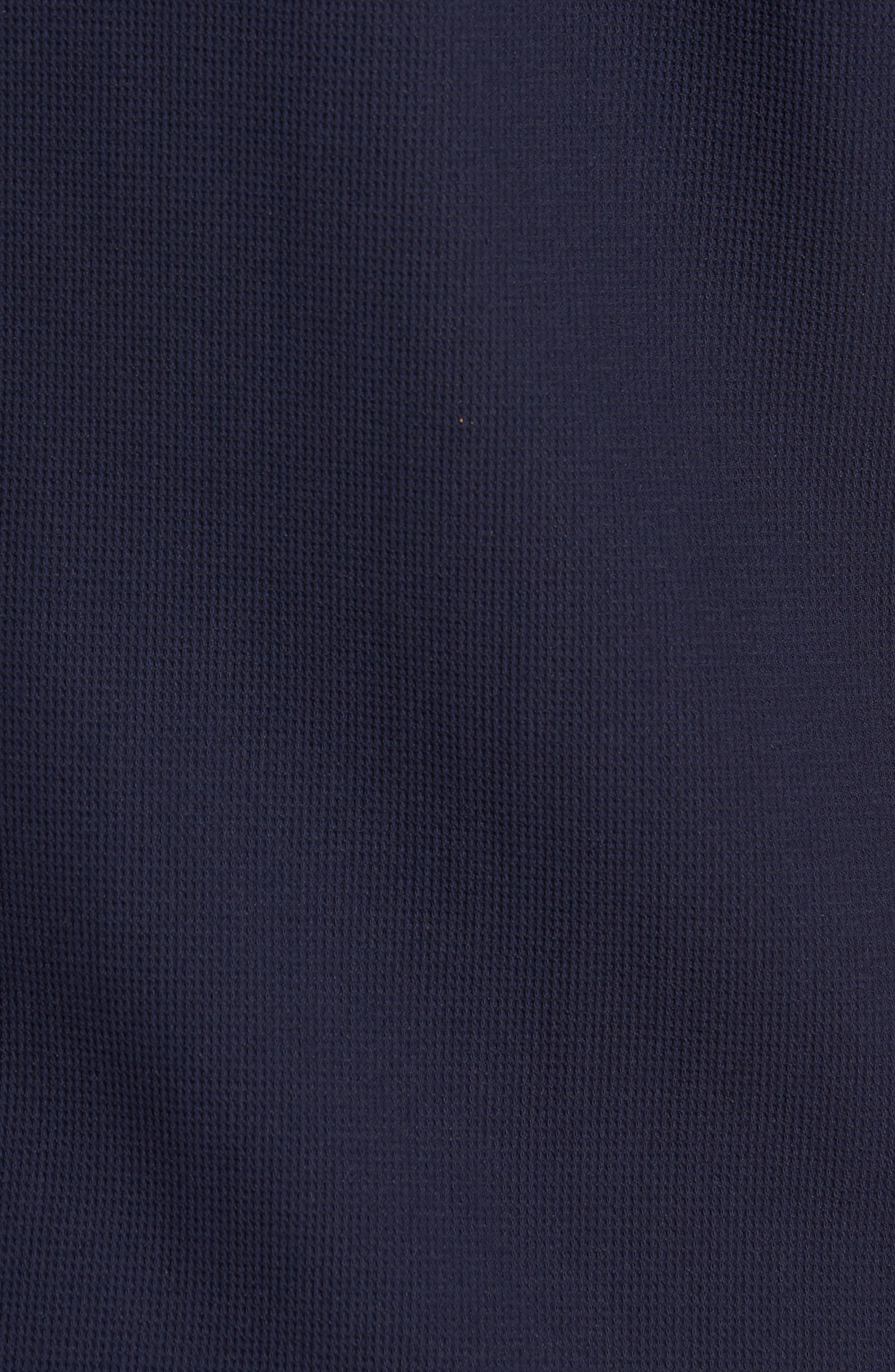 Loretax Trim Fit Stretch Knit Sport Shirt,                             Alternate thumbnail 5, color,                             Navy
