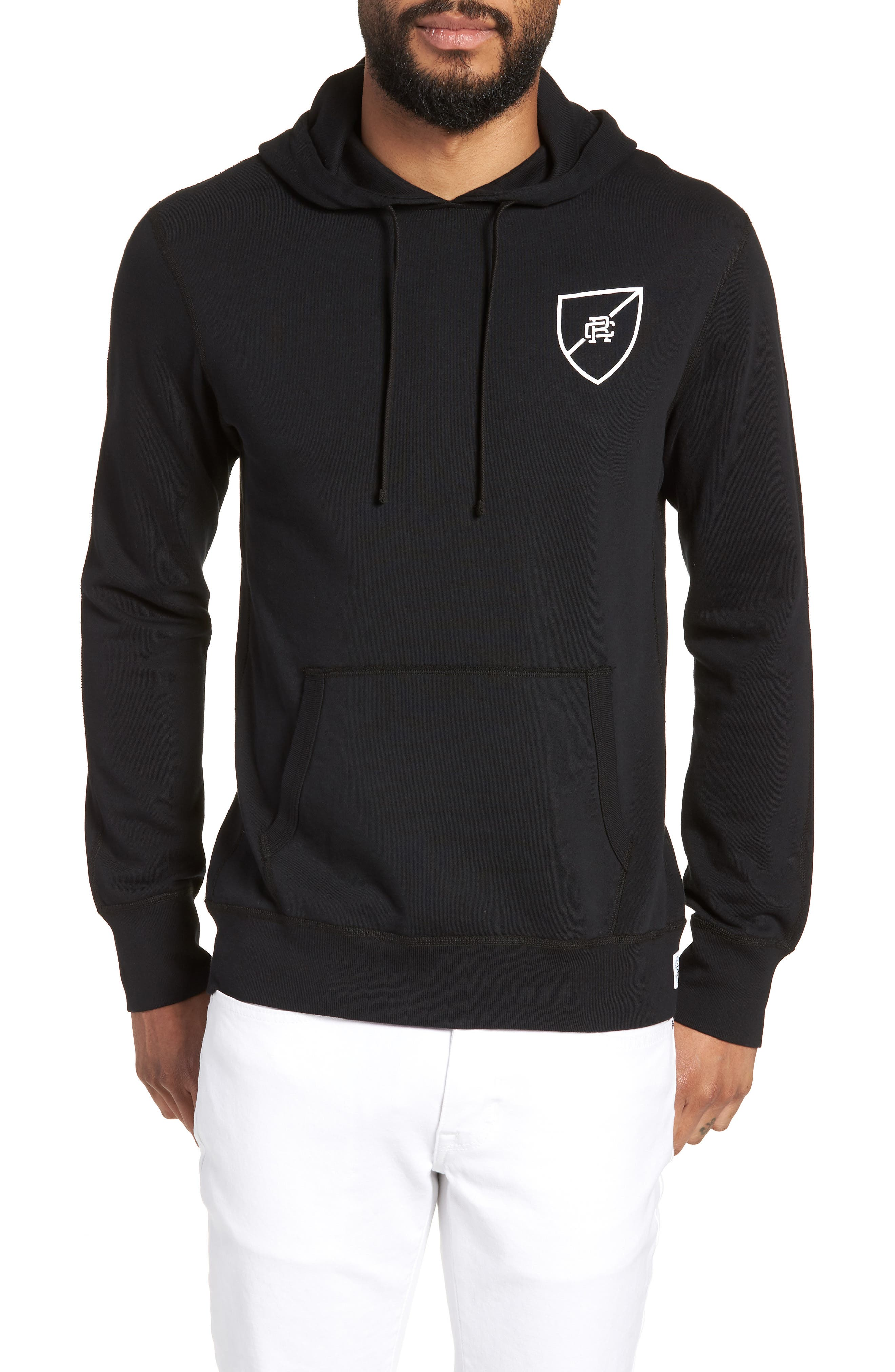 REIGNING CHAMP SHIELD LOGO HOODED PULLOVER