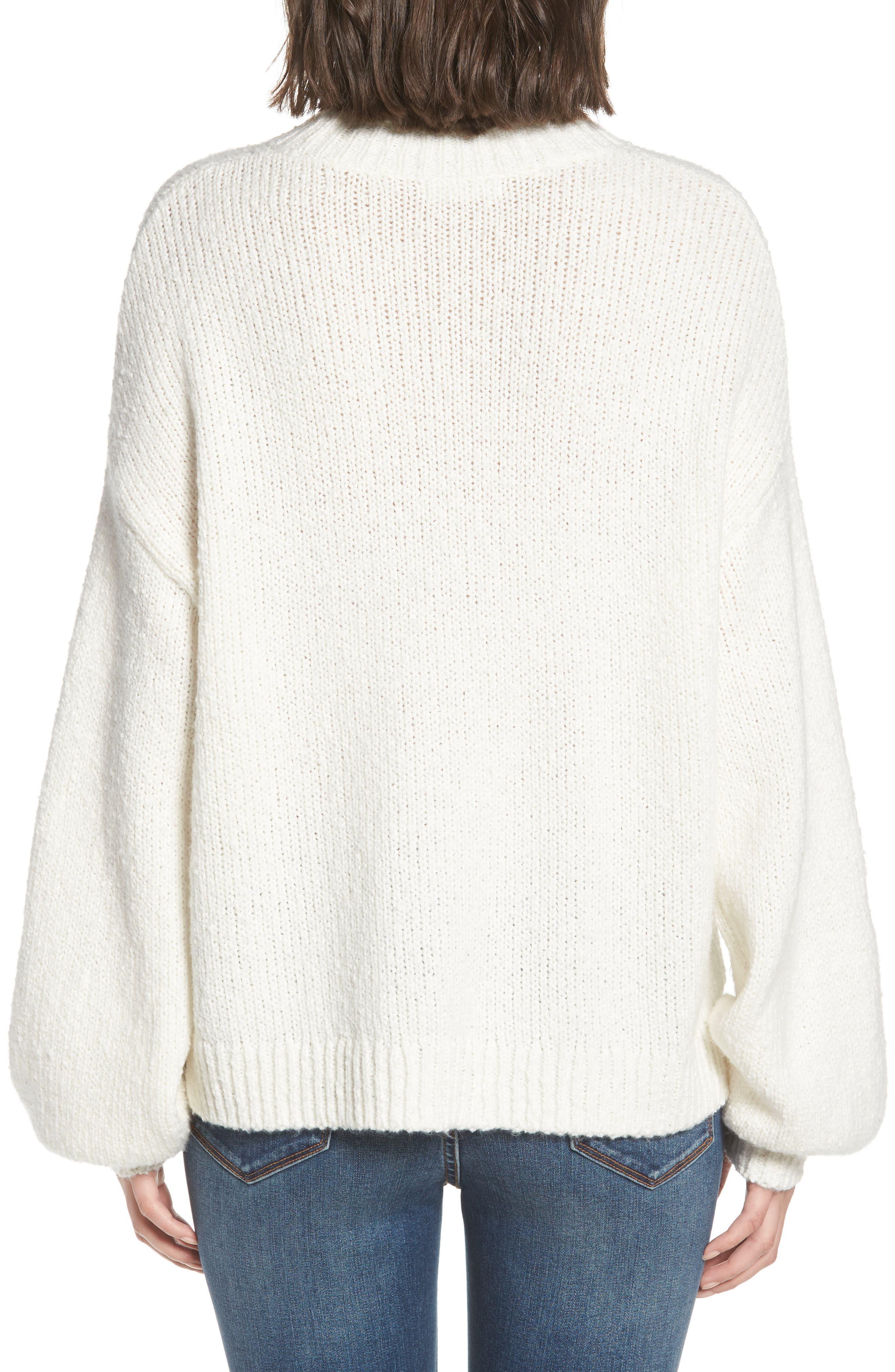 Balloon Sleeve Sweater,                             Alternate thumbnail 2, color,                             Ivory