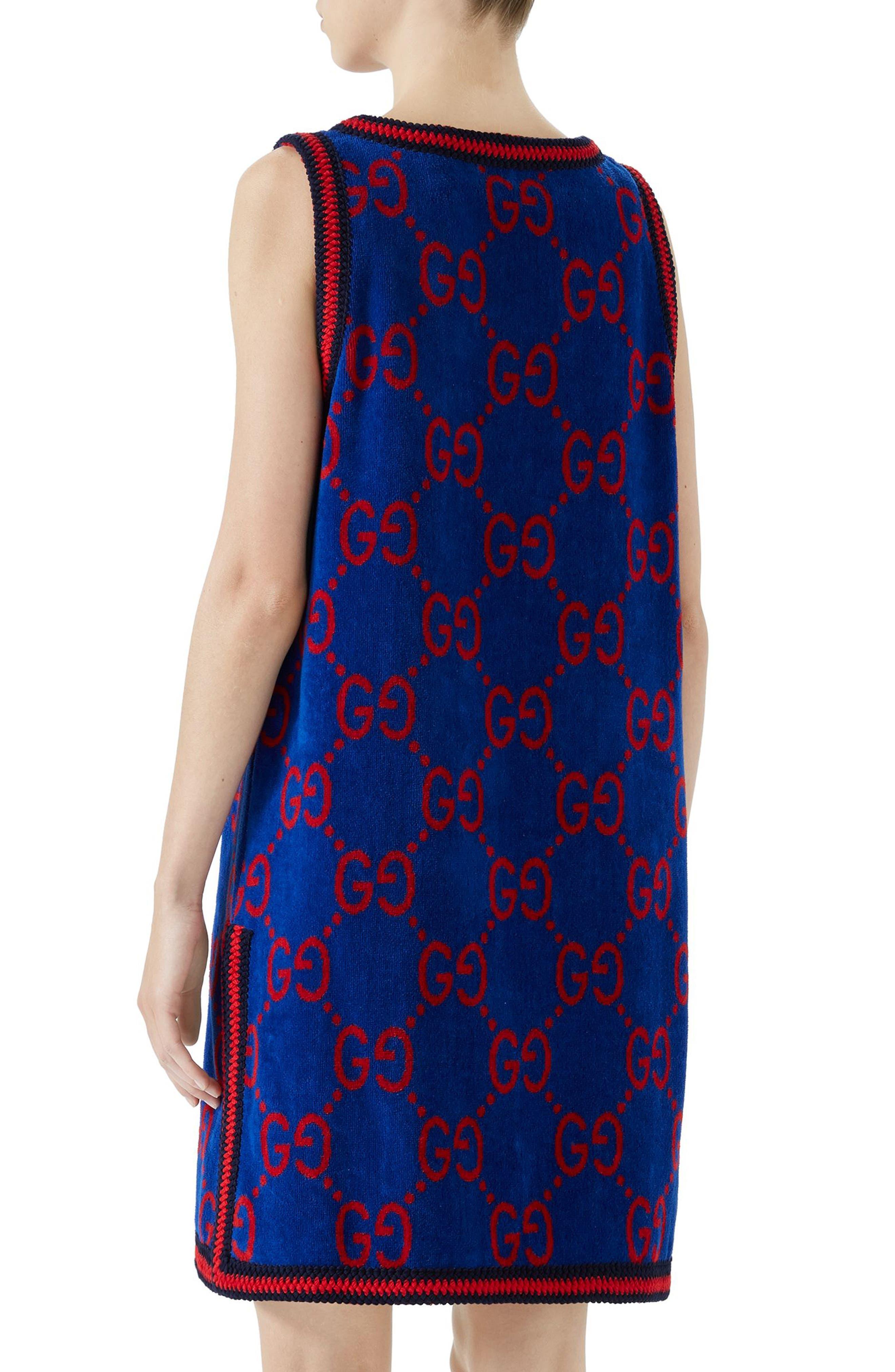 GG Cotton Jacquard Shift Dress,                             Alternate thumbnail 2, color,                             Multi