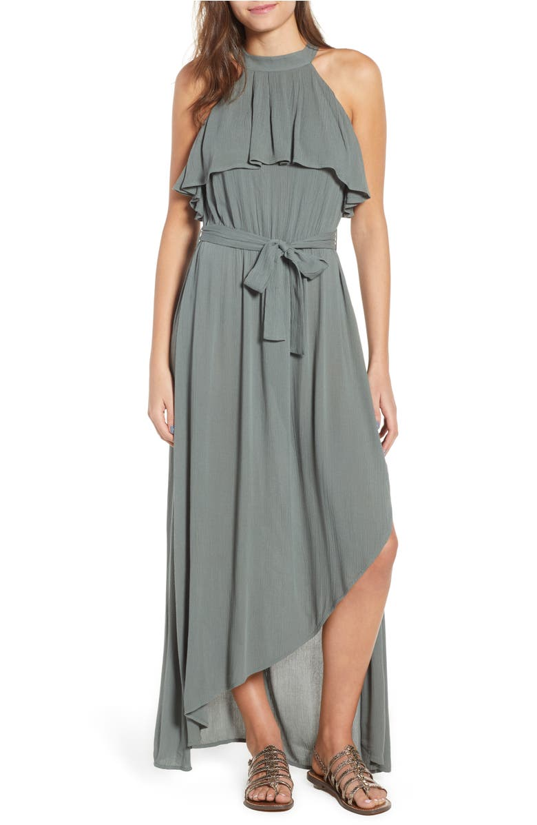 Misty Asymmetrical Dress,                         Main,                         color, Balsam Green