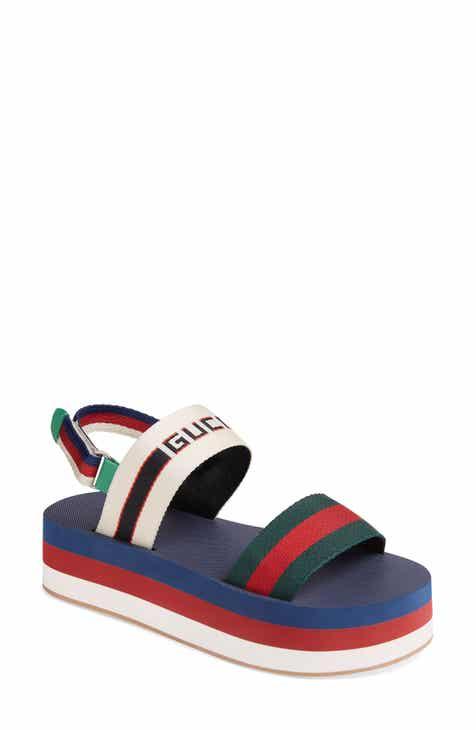 87a906b386e Gucci Bedlam Slingback Flatform Sandal (Women)