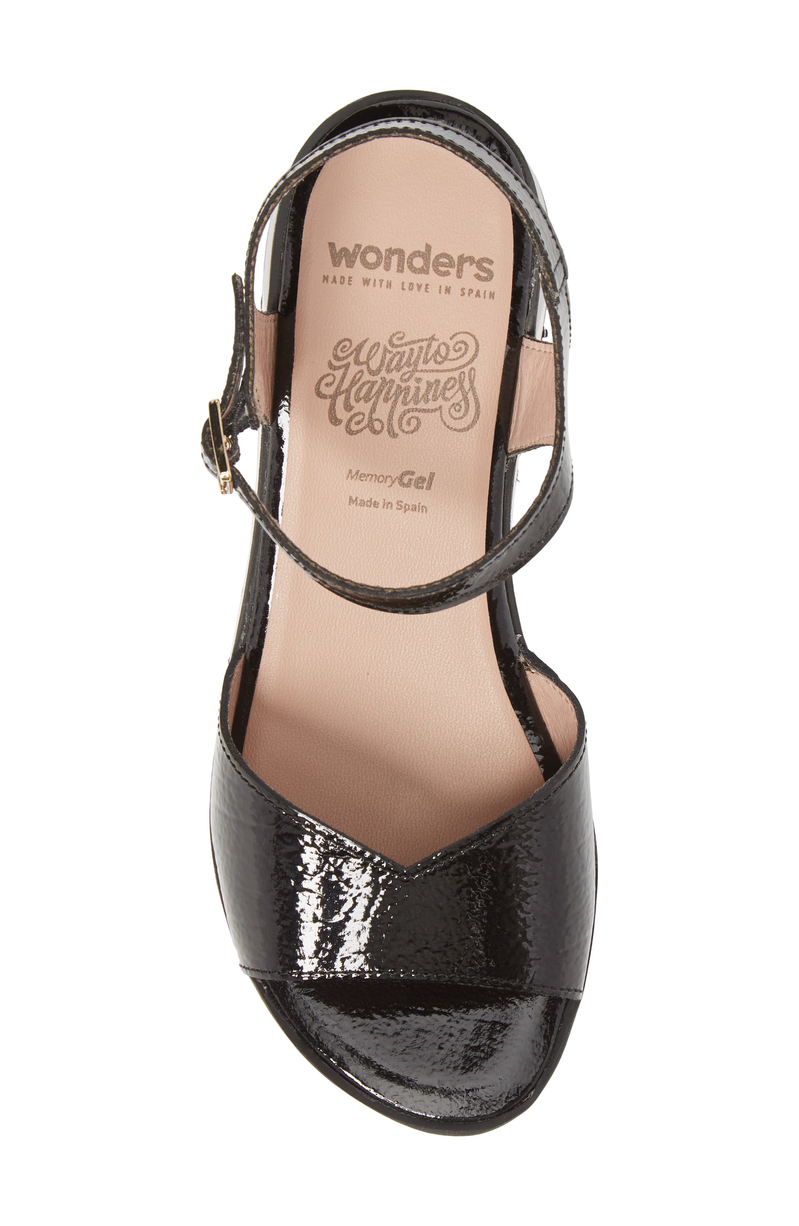 D-7810 Sandal,                             Alternate thumbnail 5, color,                             Black Patent Leather