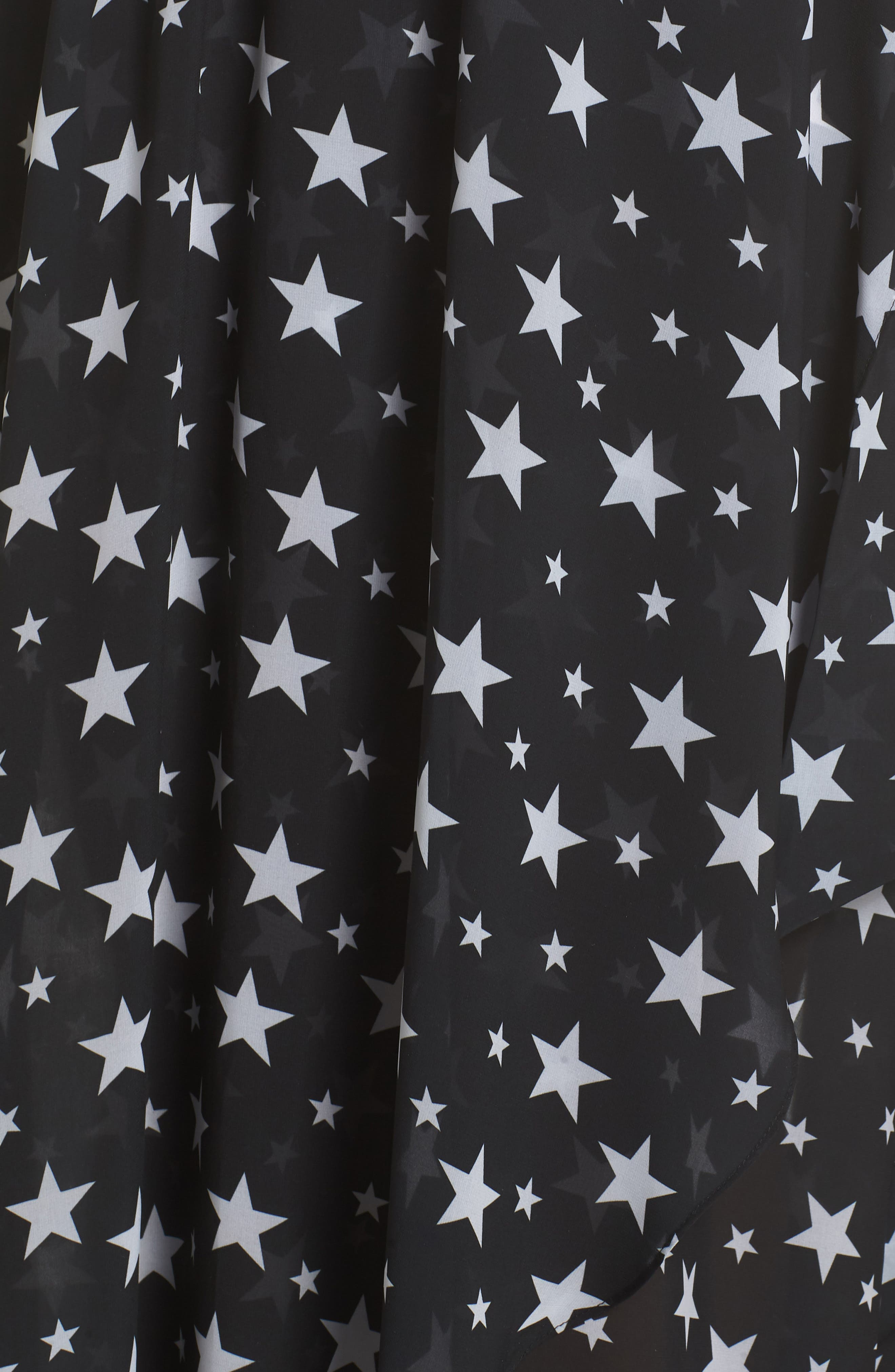 Cannes Cover-Up Skirt,                             Alternate thumbnail 5, color,                             Black Star