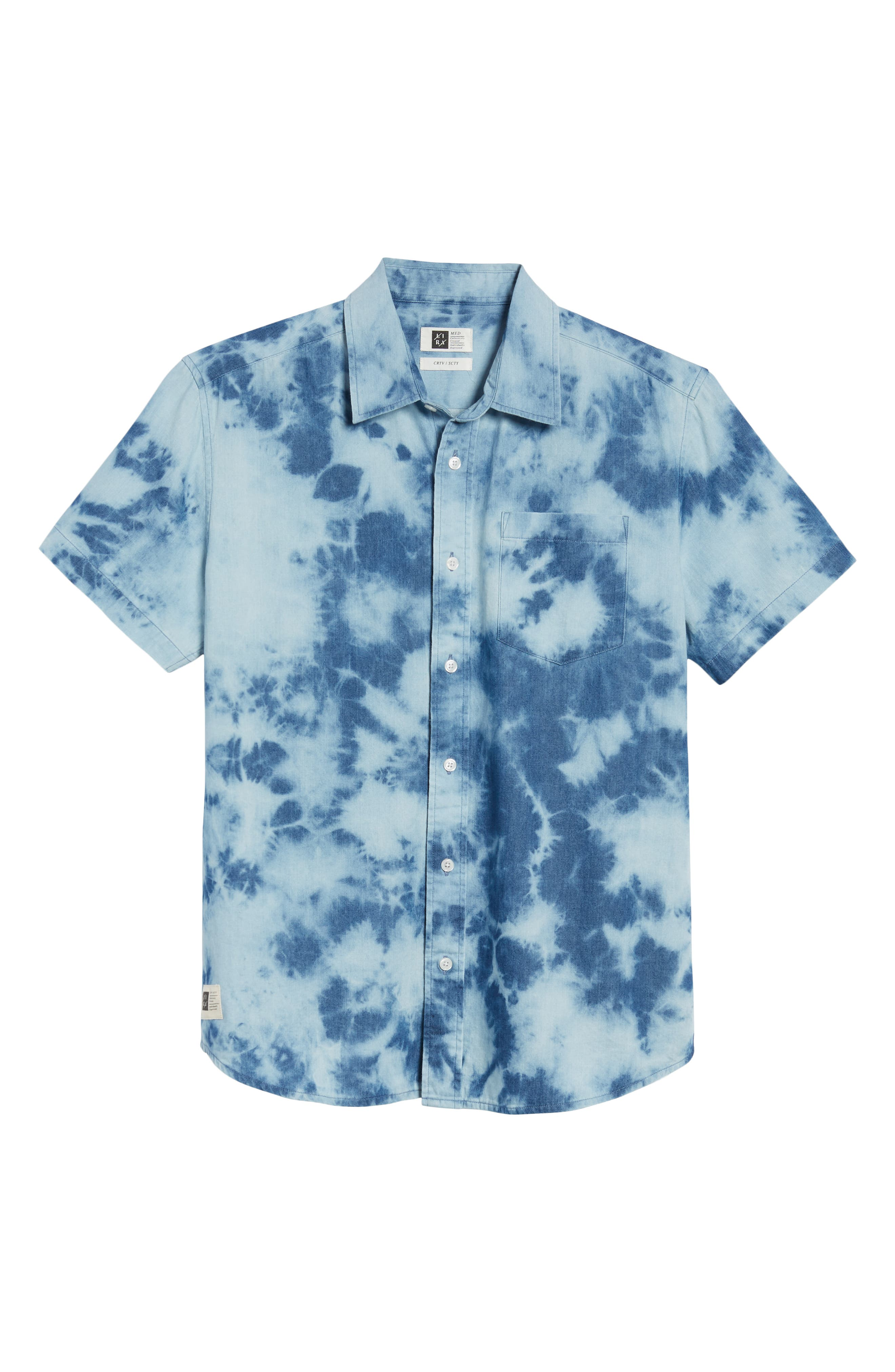 Bleacher Creature Woven Shirt,                             Alternate thumbnail 6, color,                             Blue