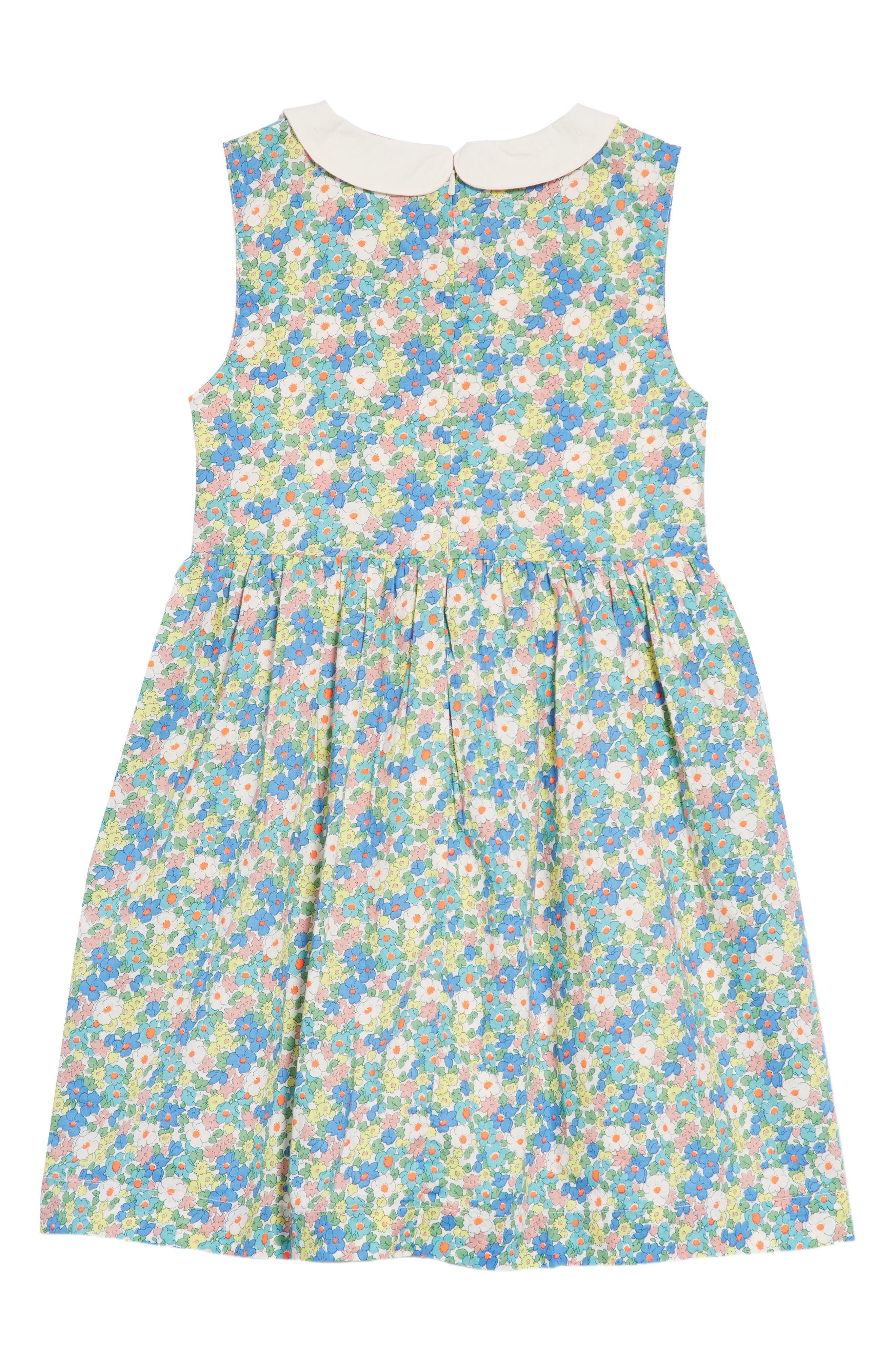 Nostalgic Smocked Dress,                             Alternate thumbnail 3, color,                             Camper Blue Vintage