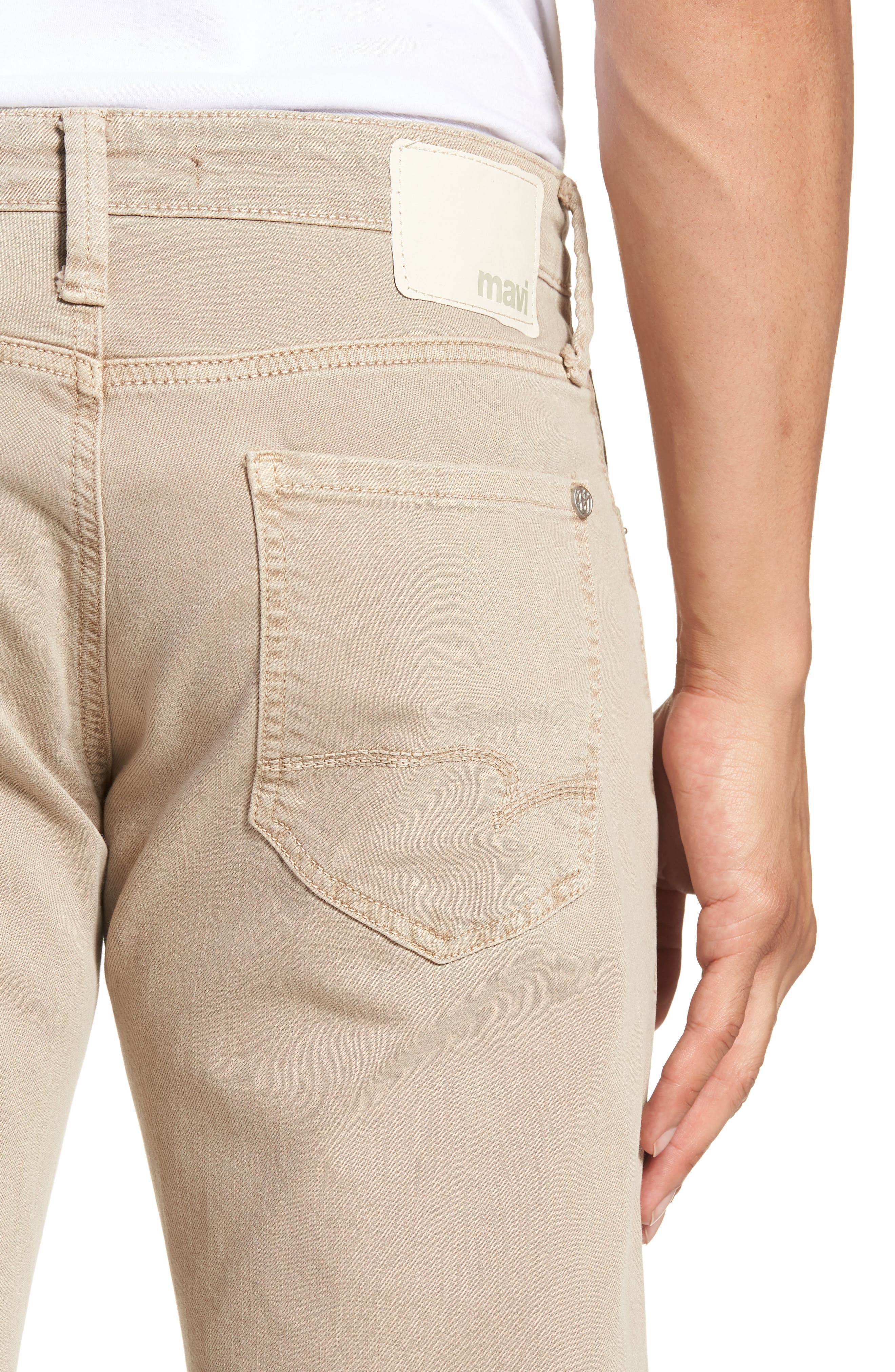 Zach Straight Leg Twill Pants,                             Alternate thumbnail 4, color,                             Tan Washed