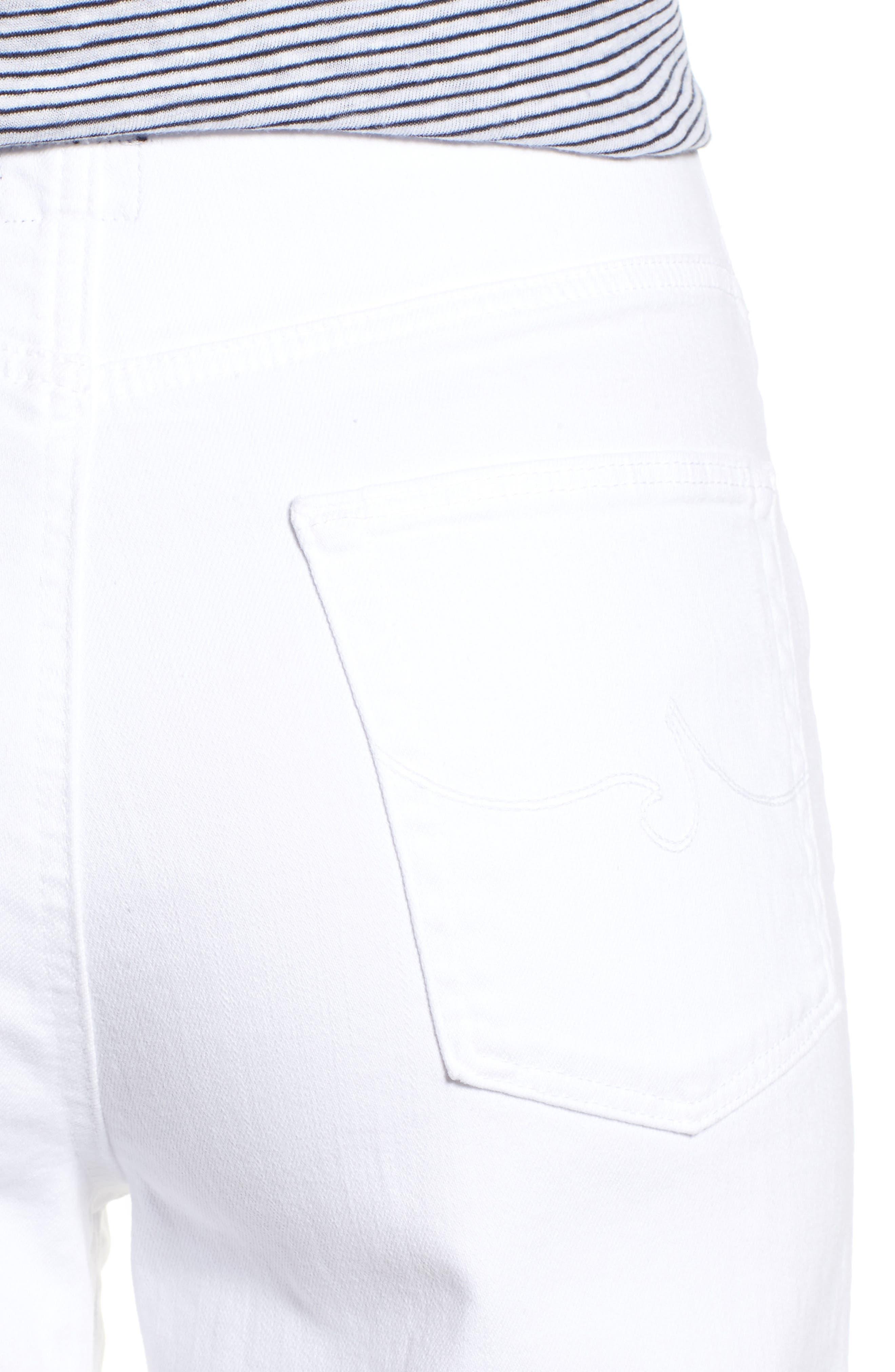 Etta High Waist Crop Wide Leg Jeans,                             Alternate thumbnail 4, color,                             White