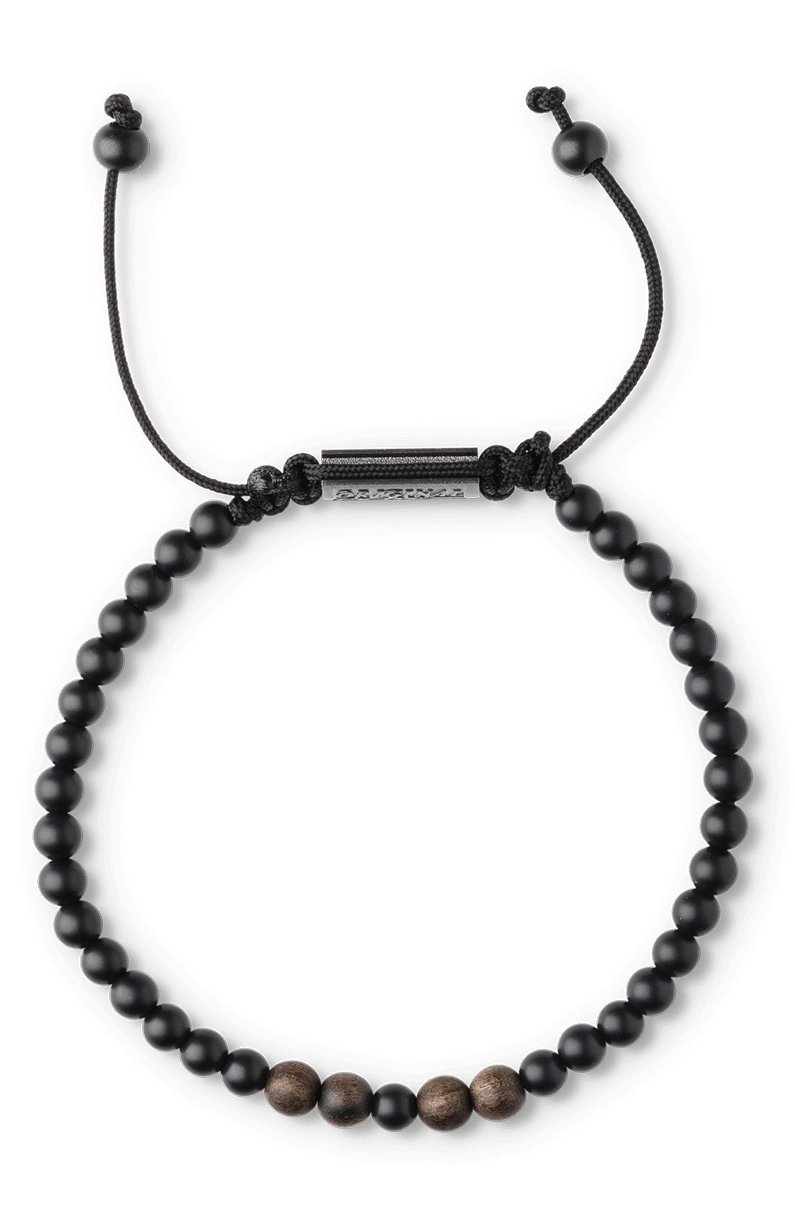 Bead Bracelet,                             Alternate thumbnail 2, color,                             Ebony Onyx
