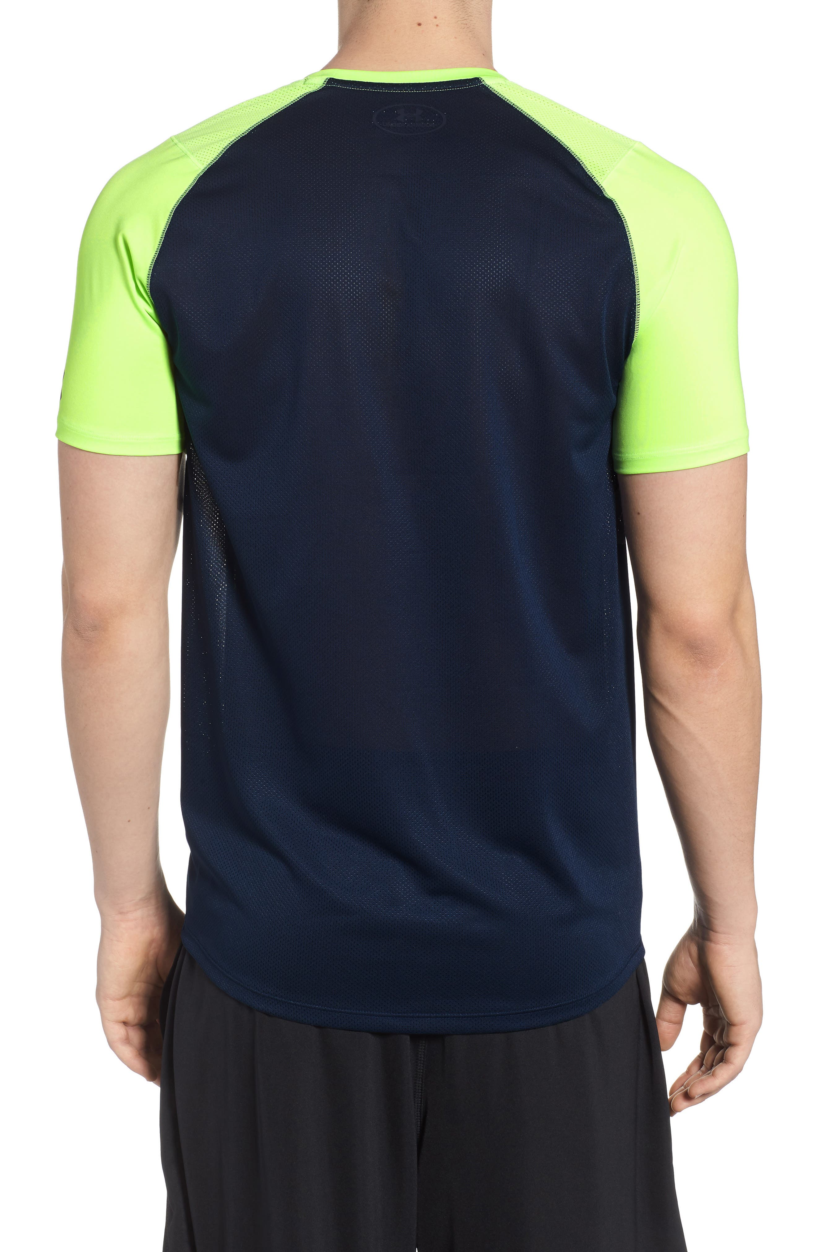 MK1 Dash Crewneck T-Shirt,                             Alternate thumbnail 2, color,                             Lime / Academy / Graphite