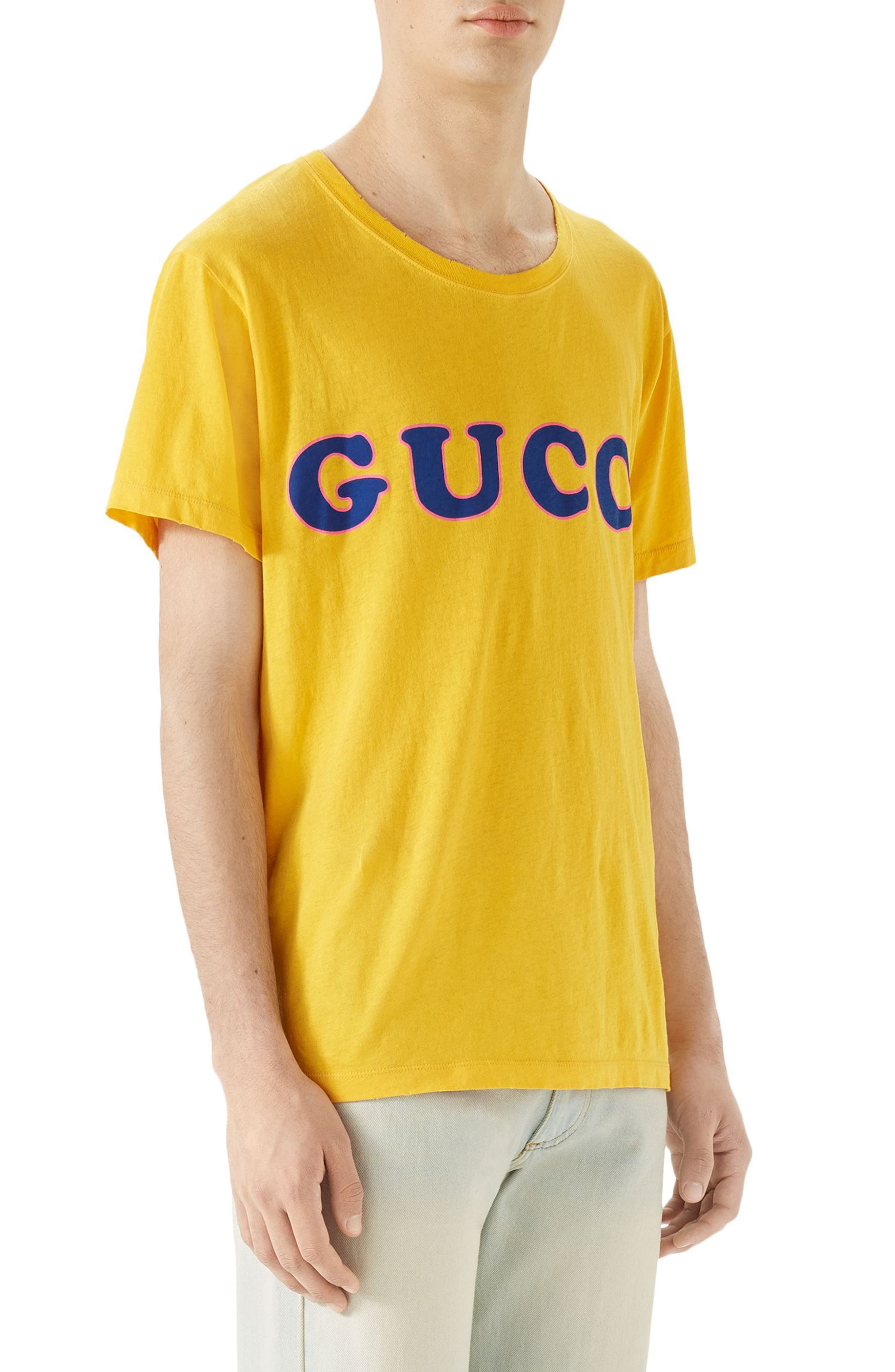 Alternate Image 3  - Gucci Vintage Wash Logo T-Shirt