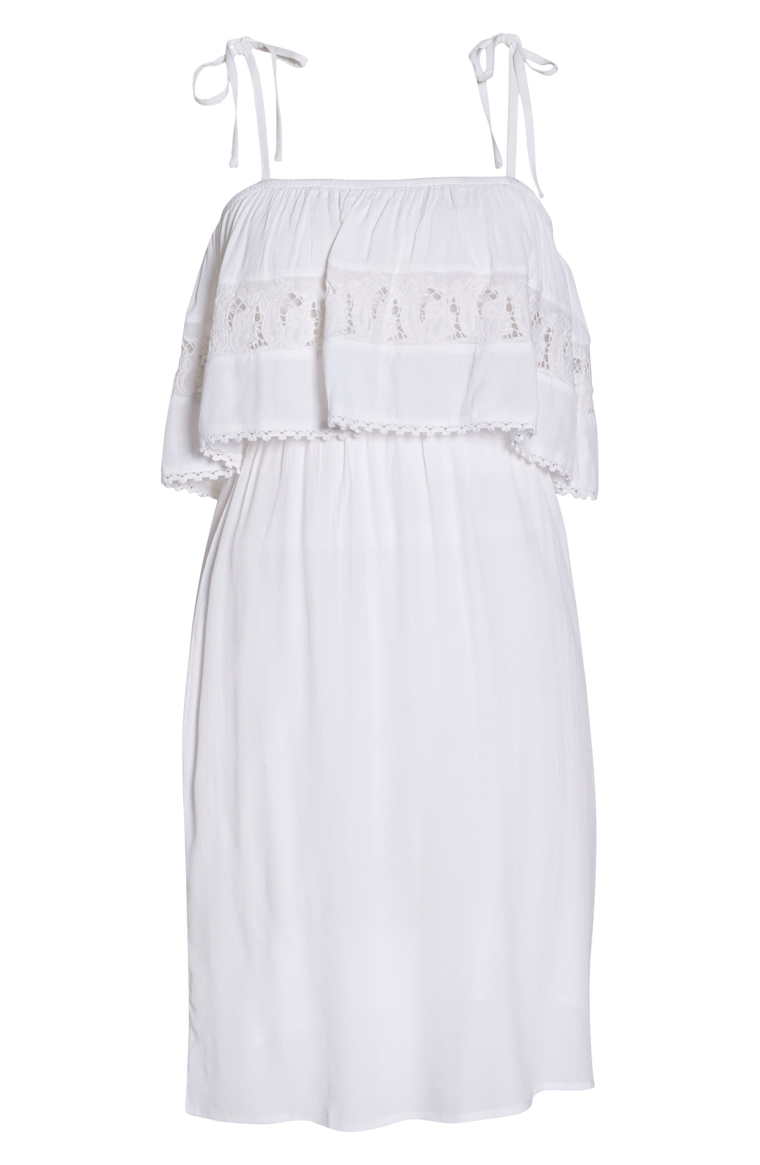 Jaclyn Cover-Up Dress,                             Alternate thumbnail 6, color,                             White