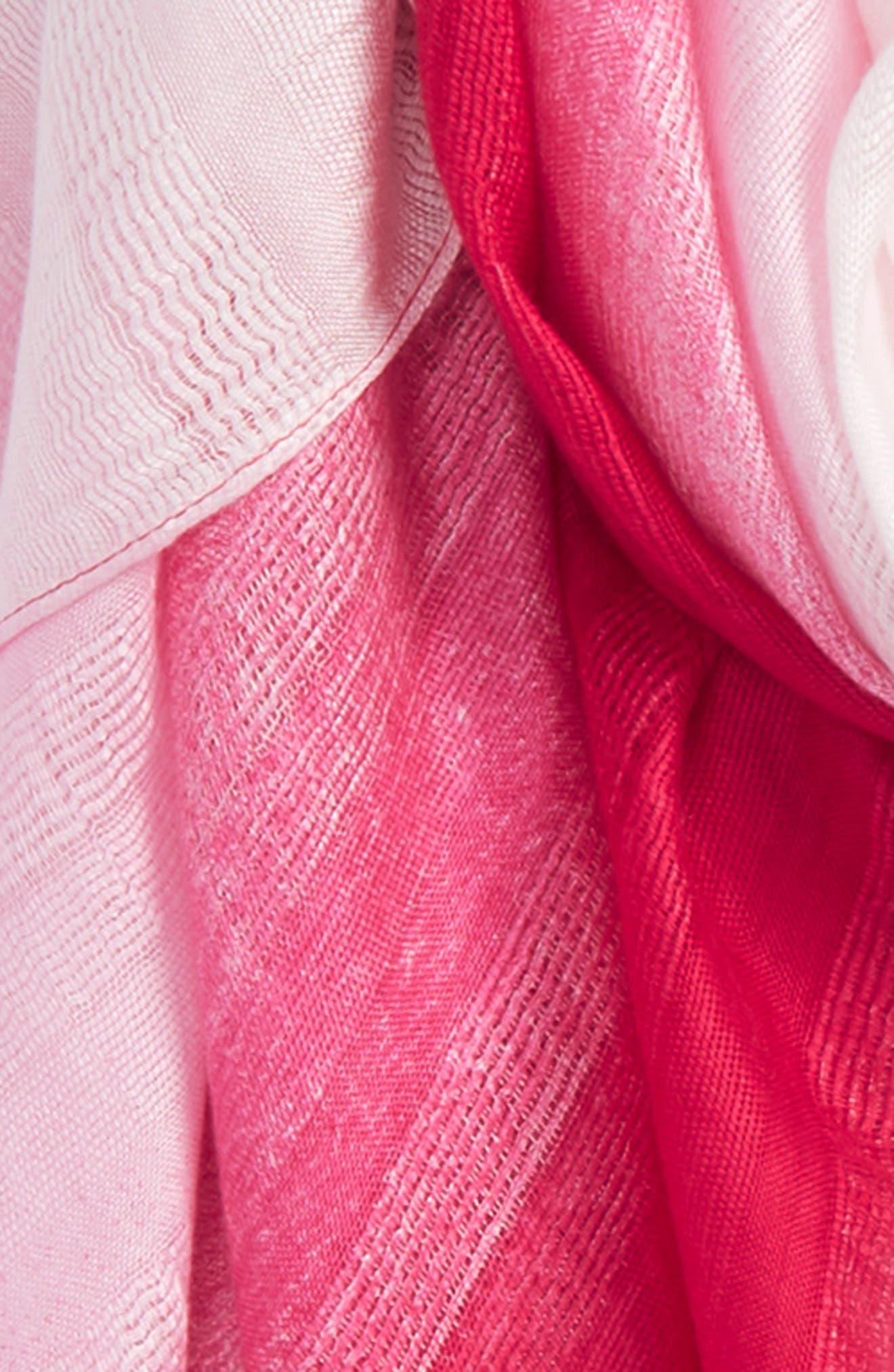 Caslon Ombré Pareo,                             Alternate thumbnail 3, color,                             Pink Ombre Print