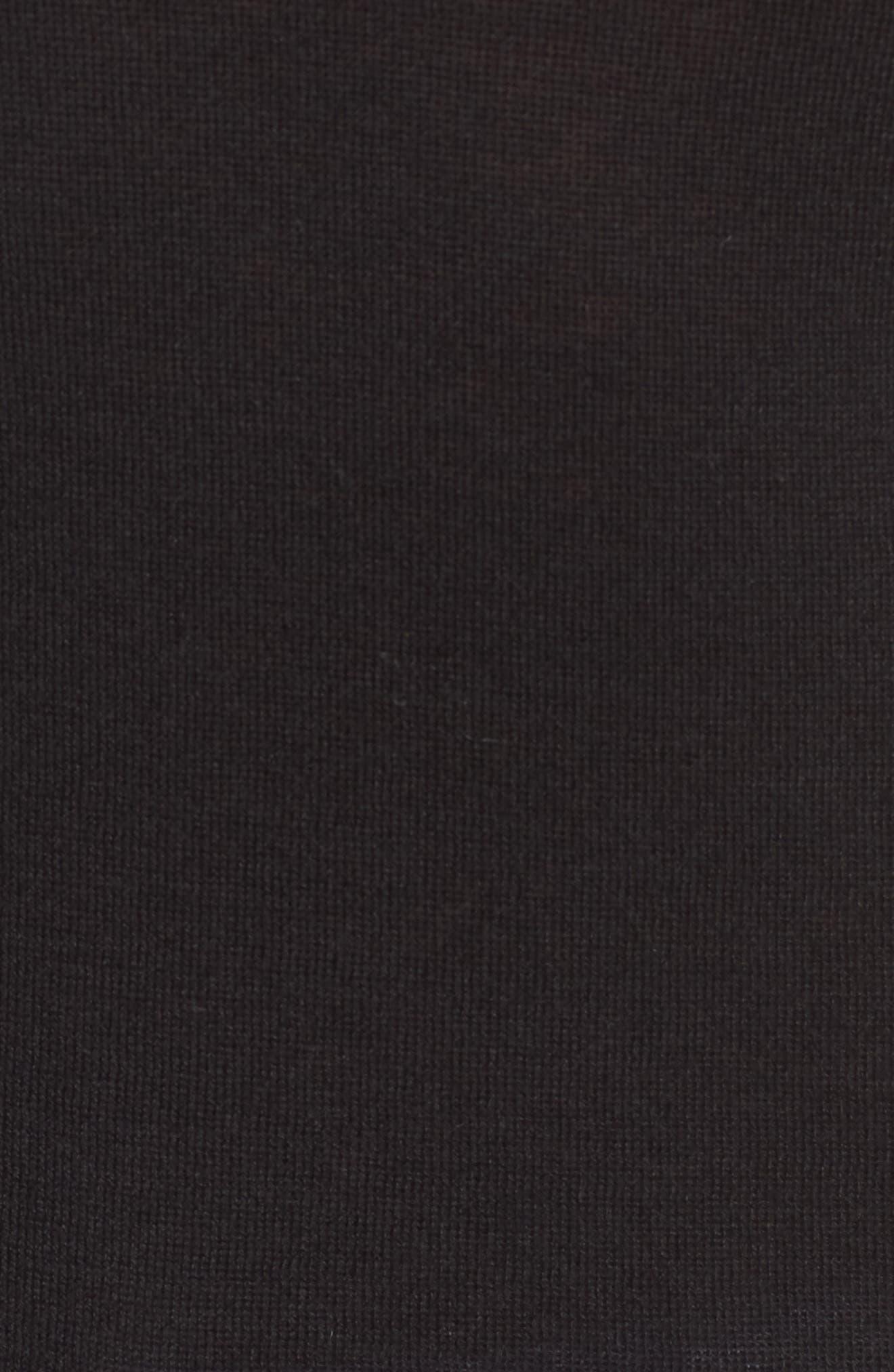 Cotton Blend Pullover,                             Alternate thumbnail 5, color,                             Black