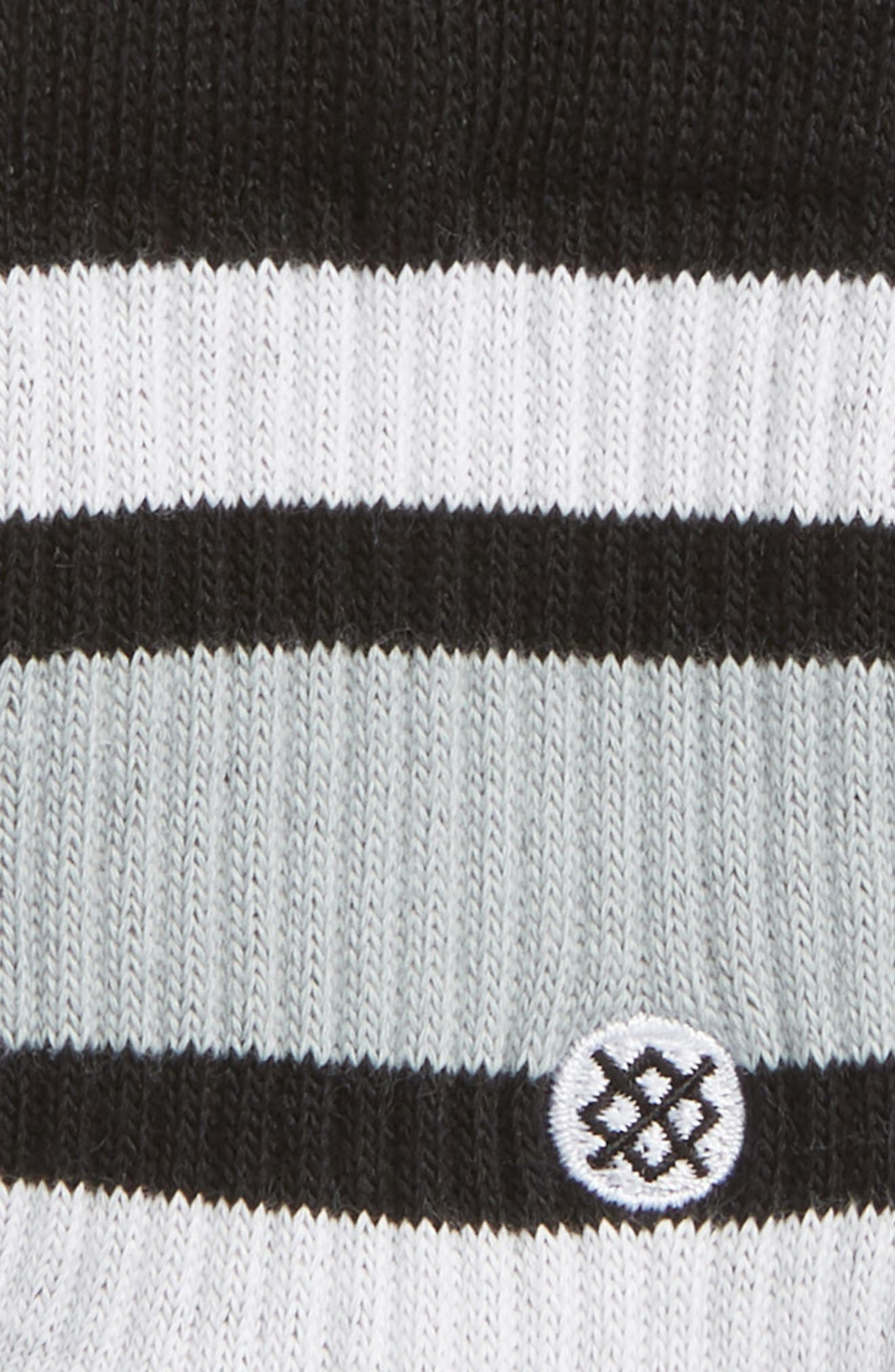 Boyd Striped Socks,                             Alternate thumbnail 2, color,                             Black
