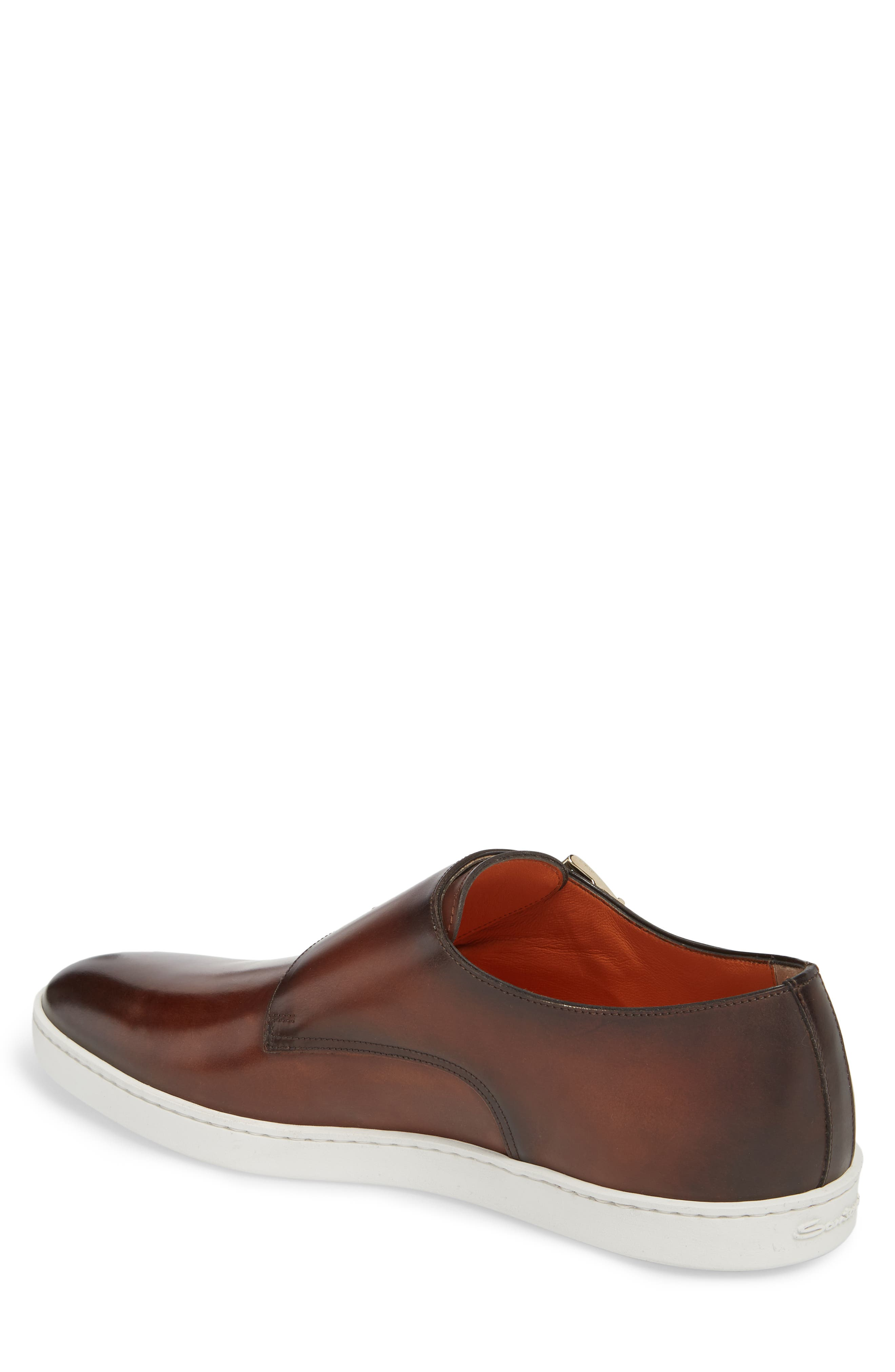 Freemont Double Monk Strap Shoe,                             Alternate thumbnail 2, color,                             Brown