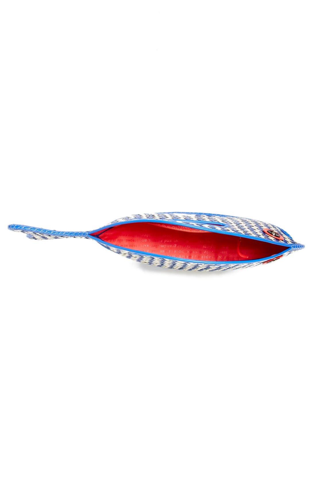 Alternate Image 4  - kate spade new york 'splash out - fish' straw tote