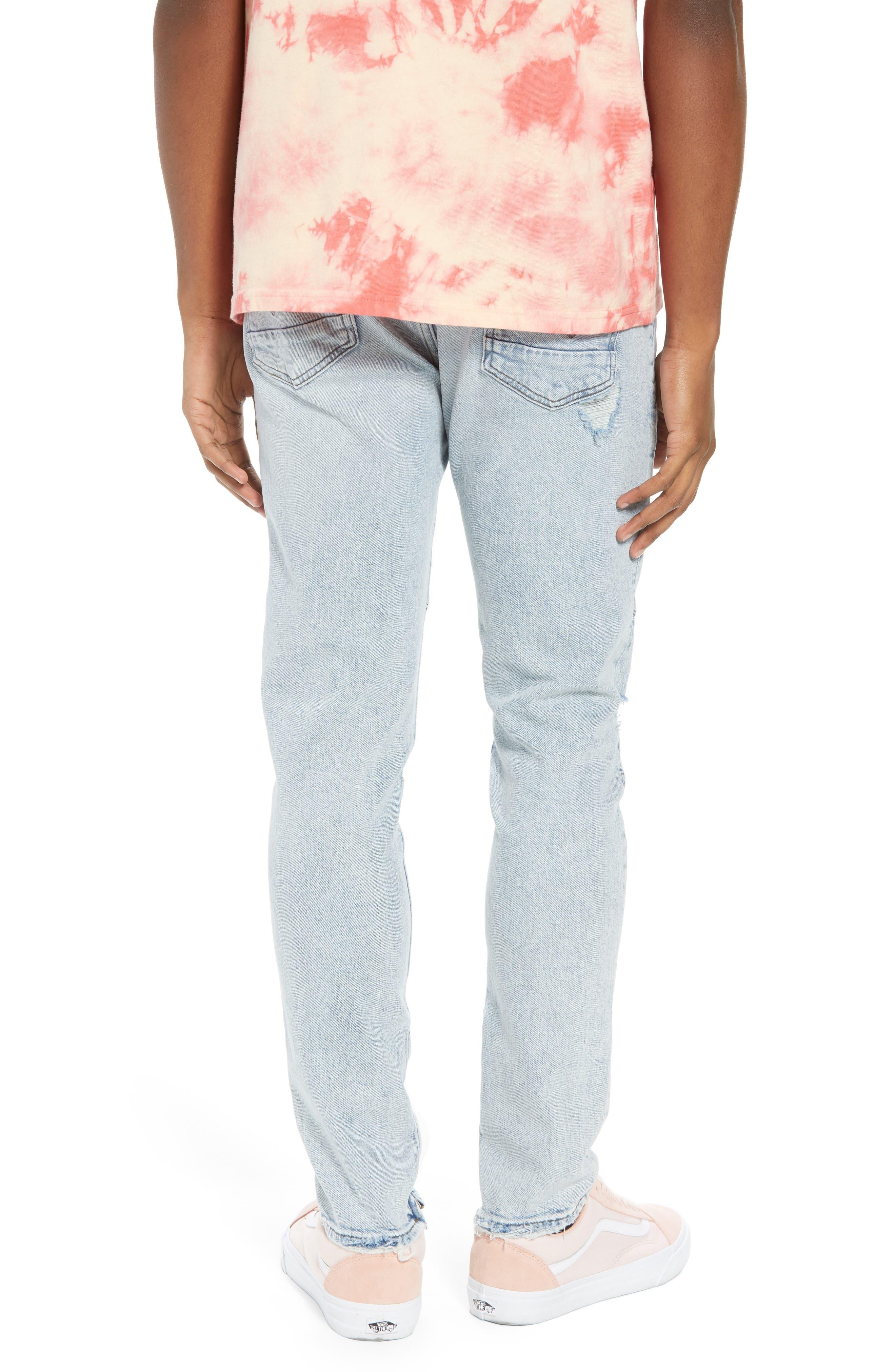 Vaughn Biker Skinny Fit Jeans,                             Alternate thumbnail 2, color,                             Echo Park