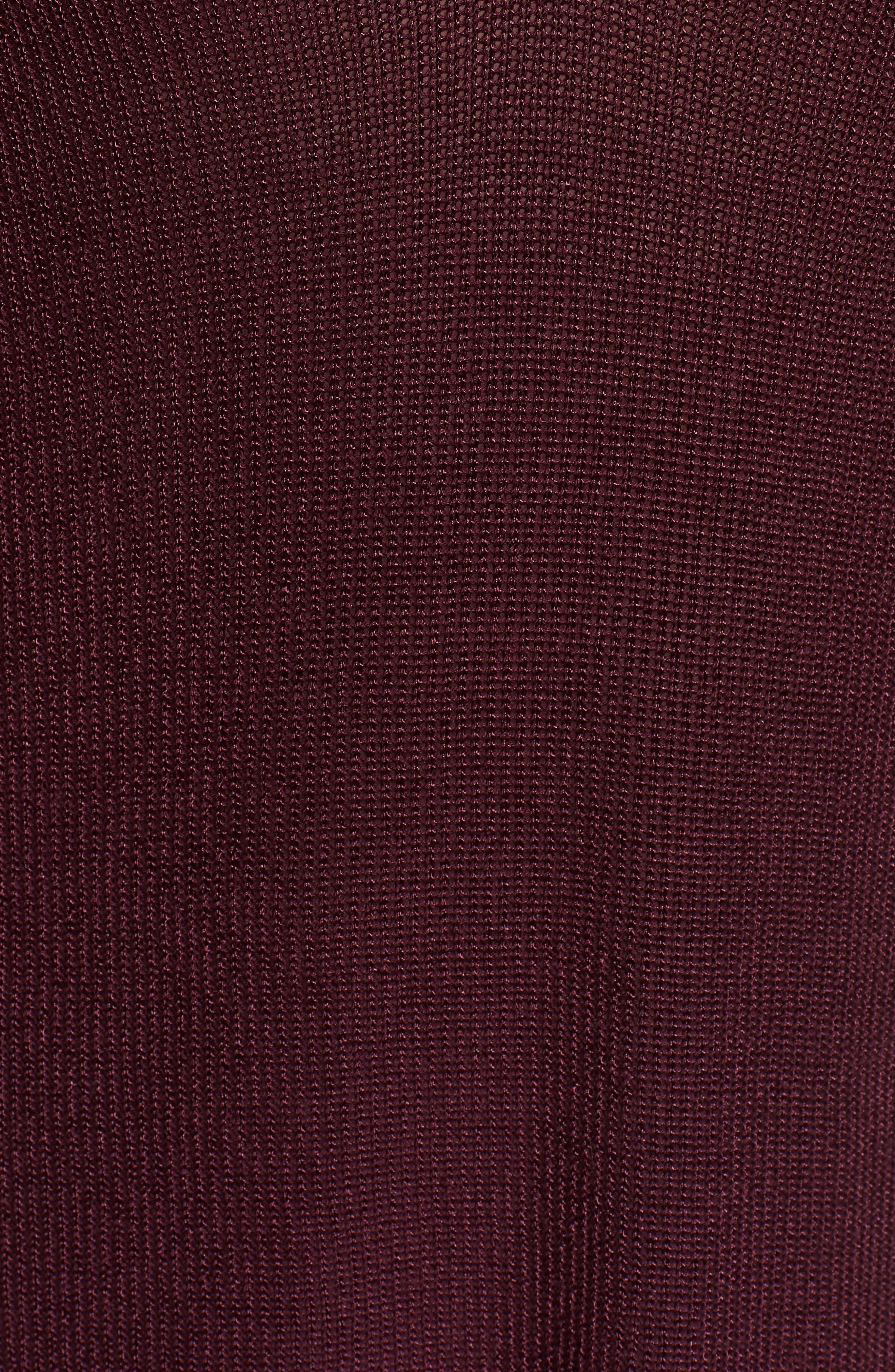 Cutout Sweater,                             Alternate thumbnail 6, color,                             Warm Plum