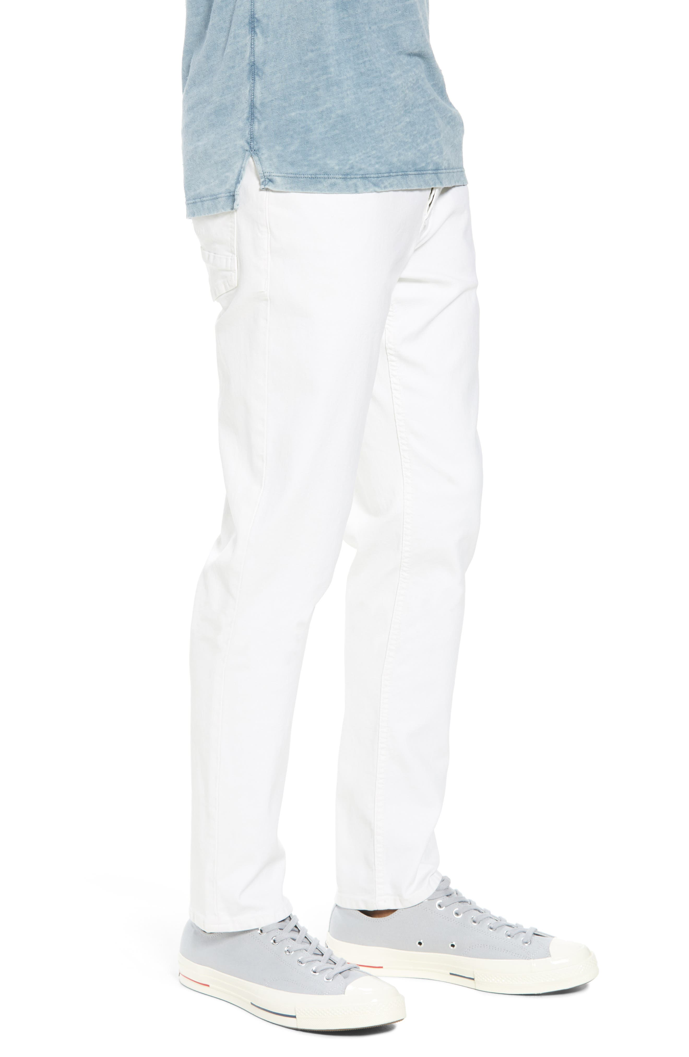 Sartor Slouchy Skinny Fit Jeans,                             Alternate thumbnail 3, color,                             Off White