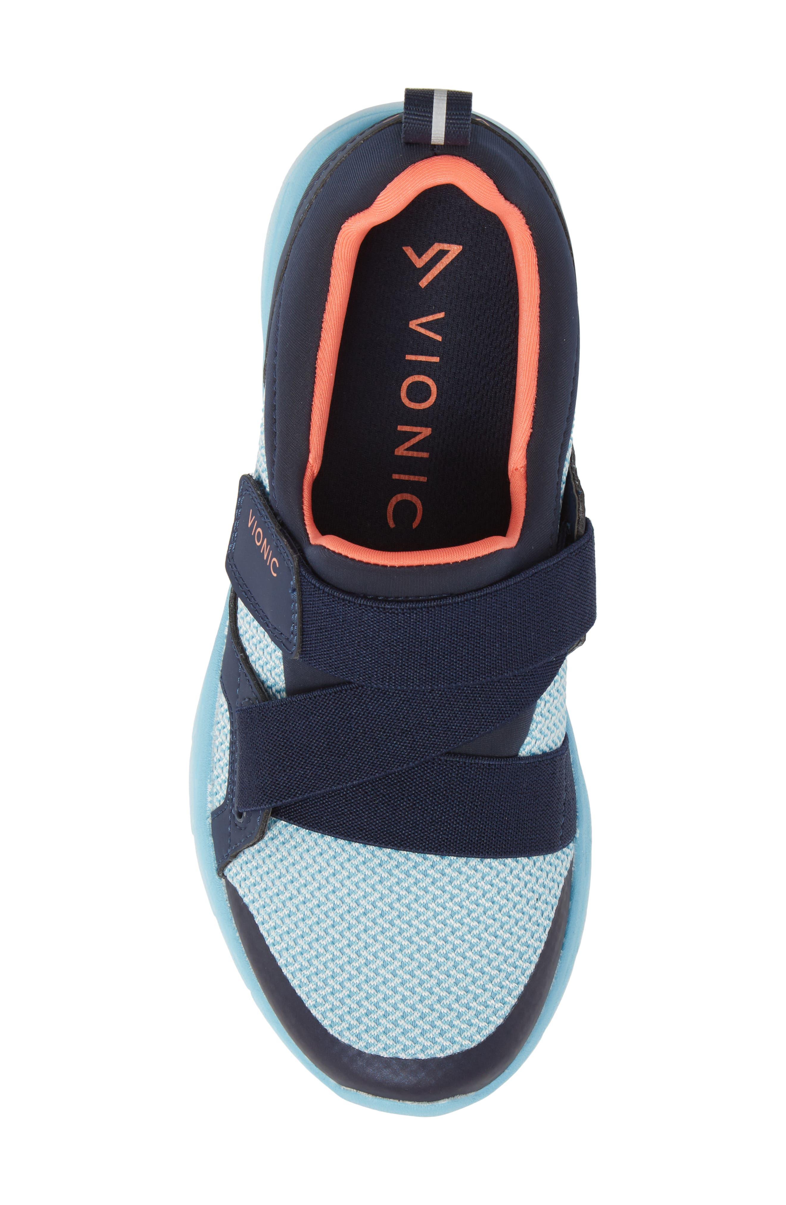 Dash Sneaker,                             Alternate thumbnail 5, color,                             Navy/ Light Blue Fabric