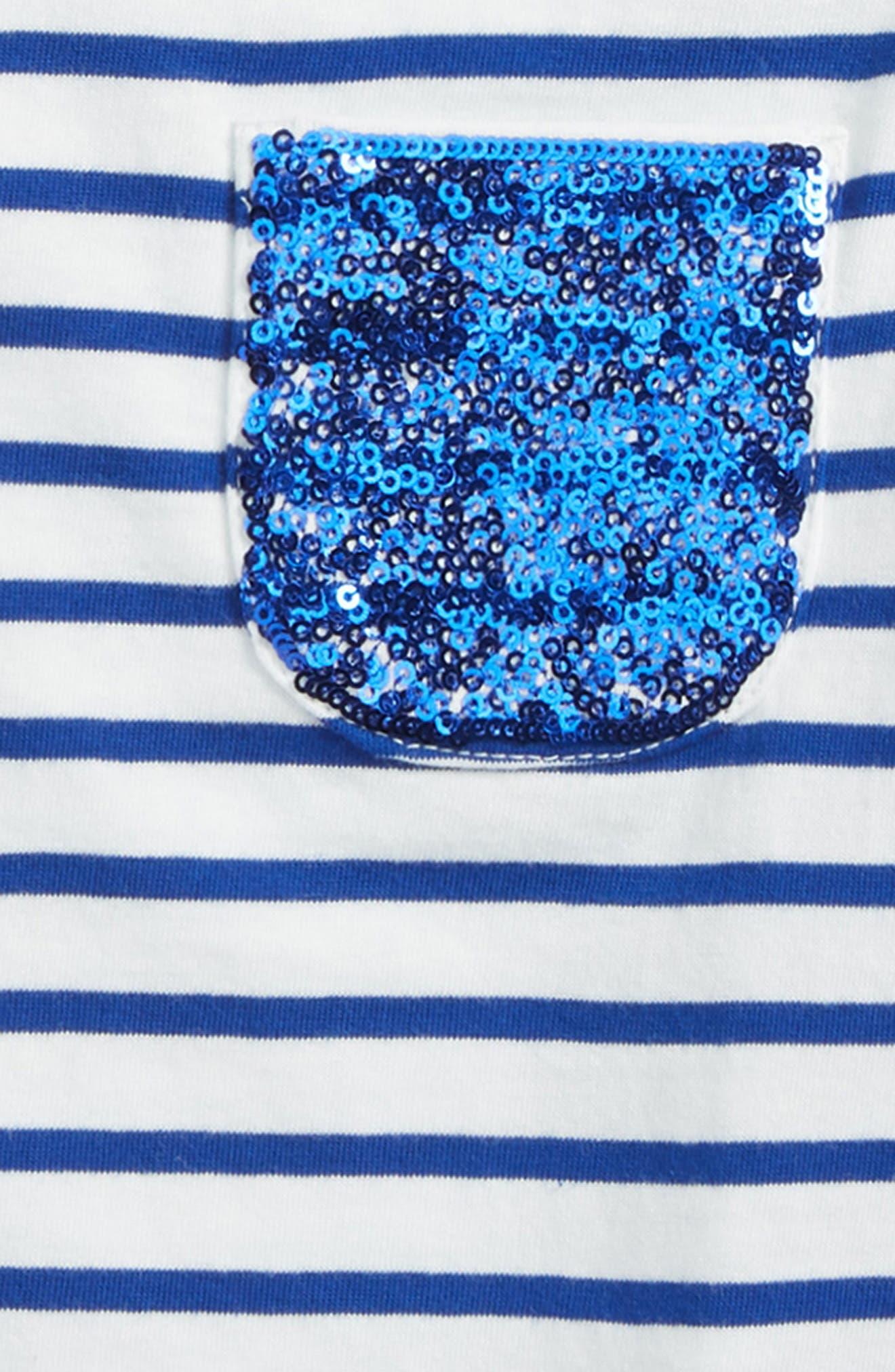 Sequin Pocket Tee,                             Alternate thumbnail 2, color,                             Ivory/ Orion Blue
