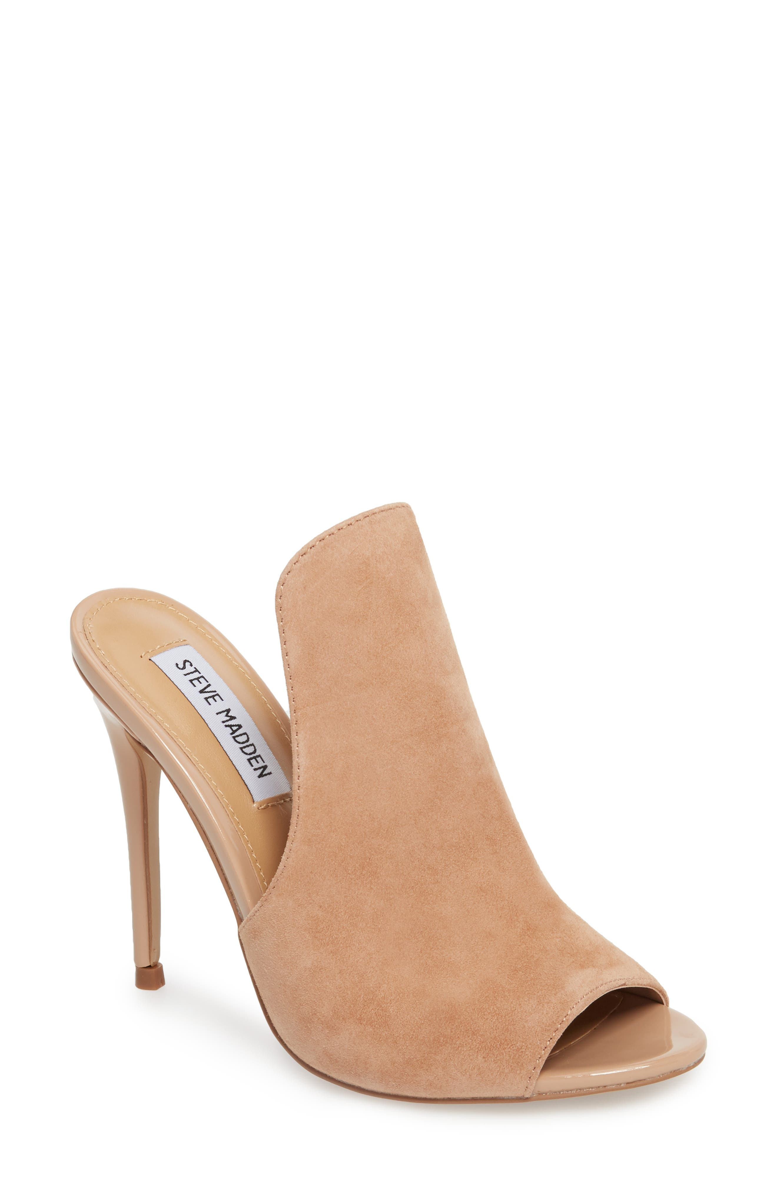 Sinful Sandal,                             Main thumbnail 1, color,                             Nude Suede