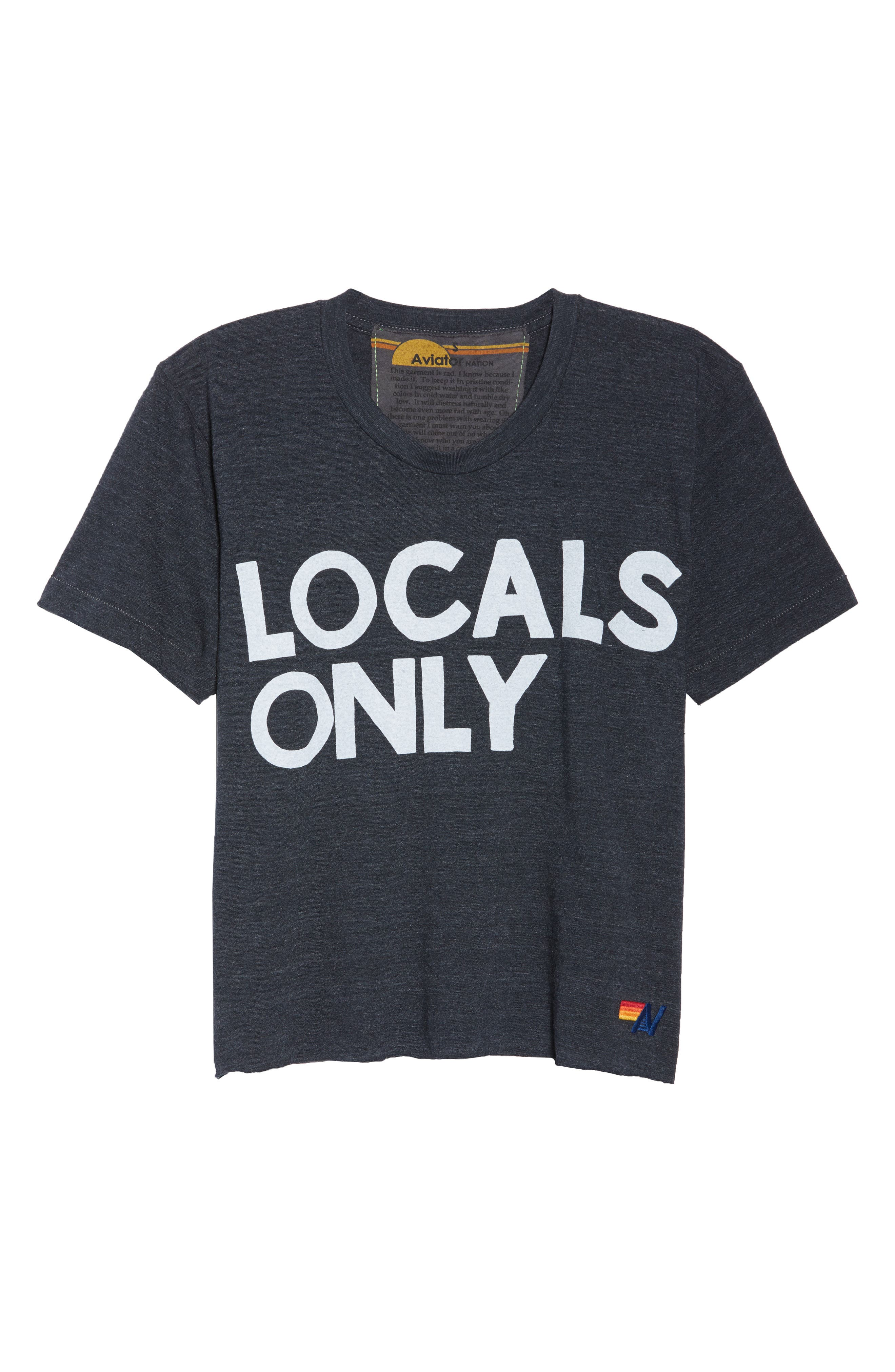 Locals Only Boyfriend Tee,                             Alternate thumbnail 7, color,                             Charcoal