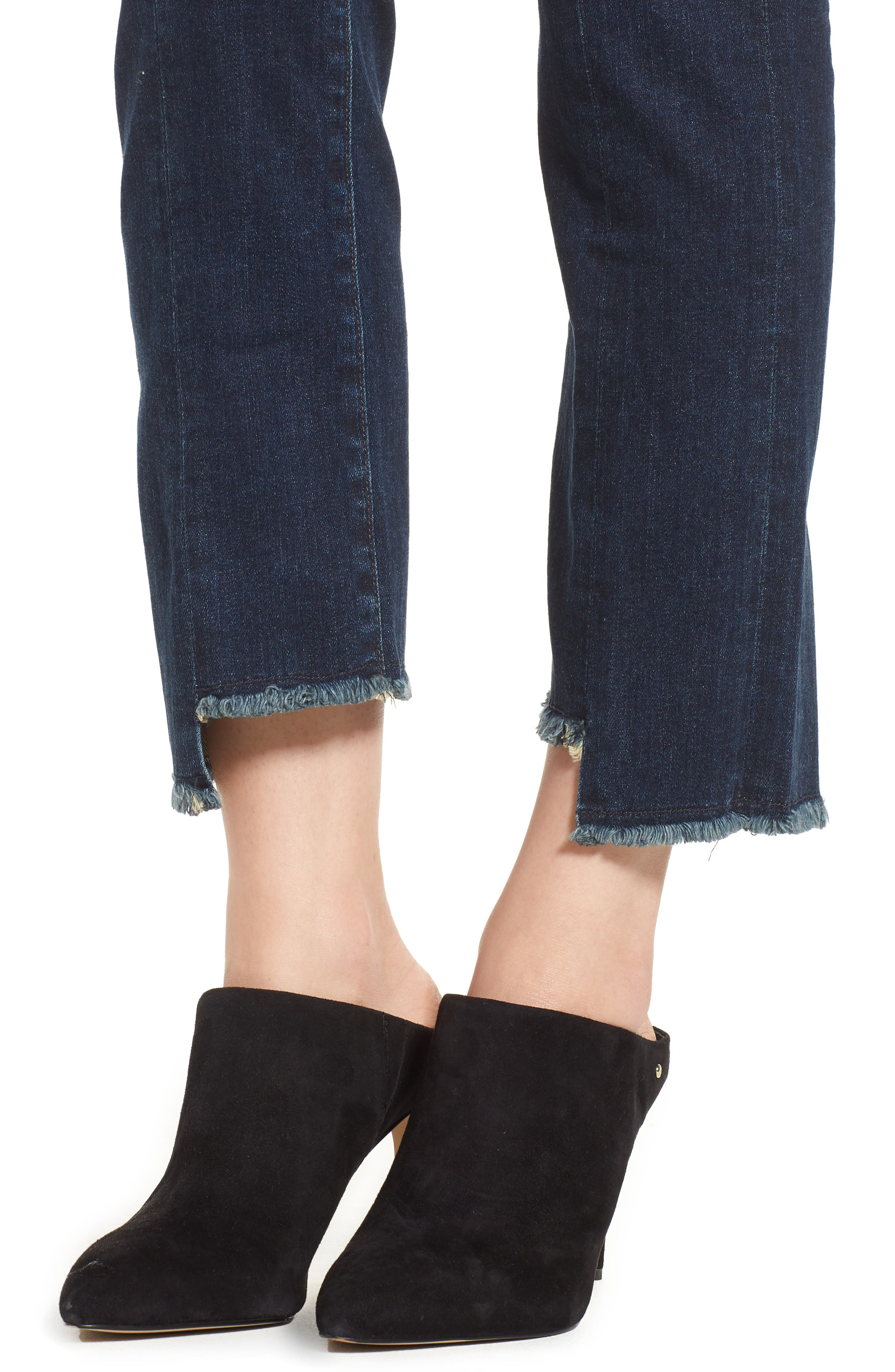 Amari Ankle Skinny Jeans,                             Alternate thumbnail 4, color,                             Maya
