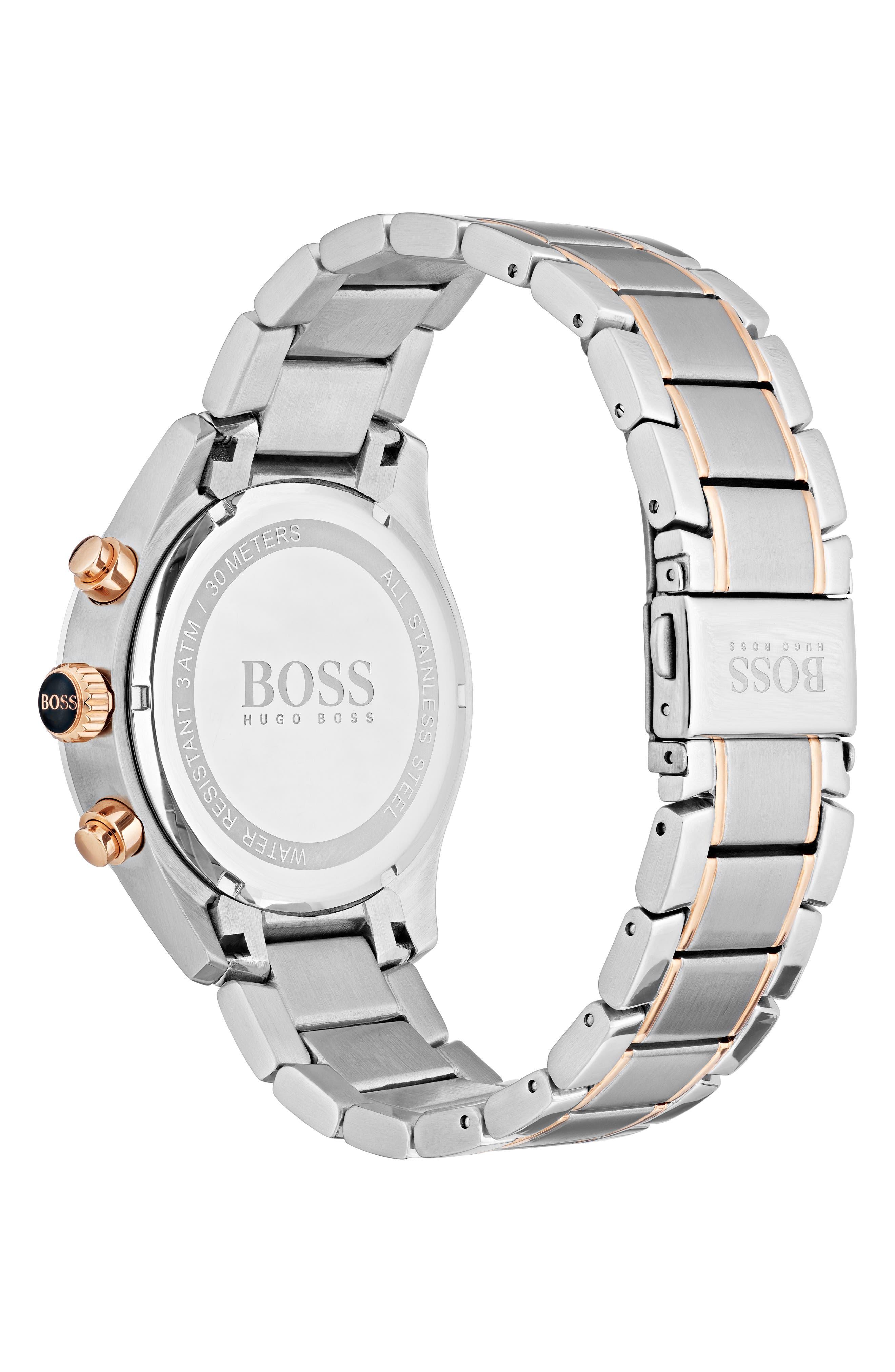 Grand Prix Chronograph Bracelet Watch, 44mm,                             Alternate thumbnail 2, color,                             Black/ Silver