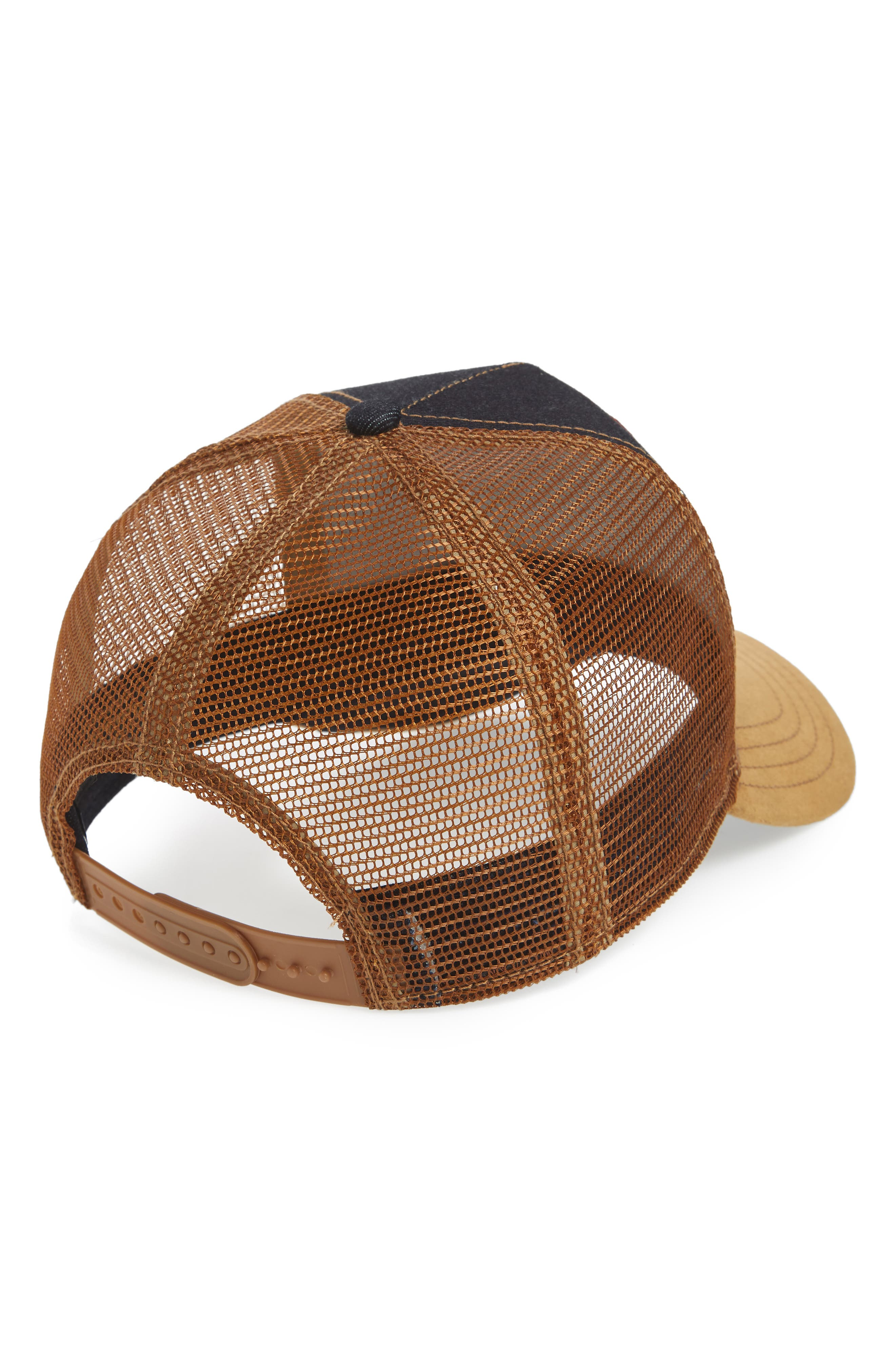 Long Crower Trucker Hat,                             Alternate thumbnail 3, color,                             Whiskey