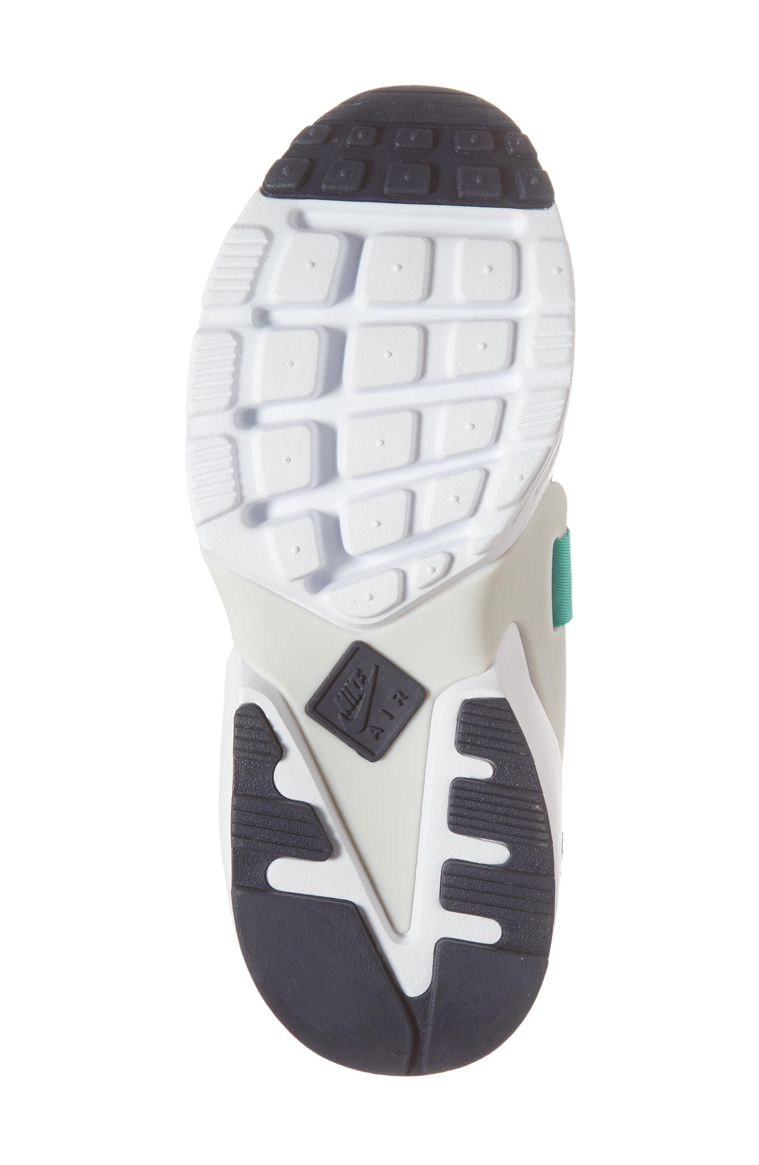 Air Huarache City Low Sneaker,                             Alternate thumbnail 6, color,                             Obsidian/ White/ Grey/ Green