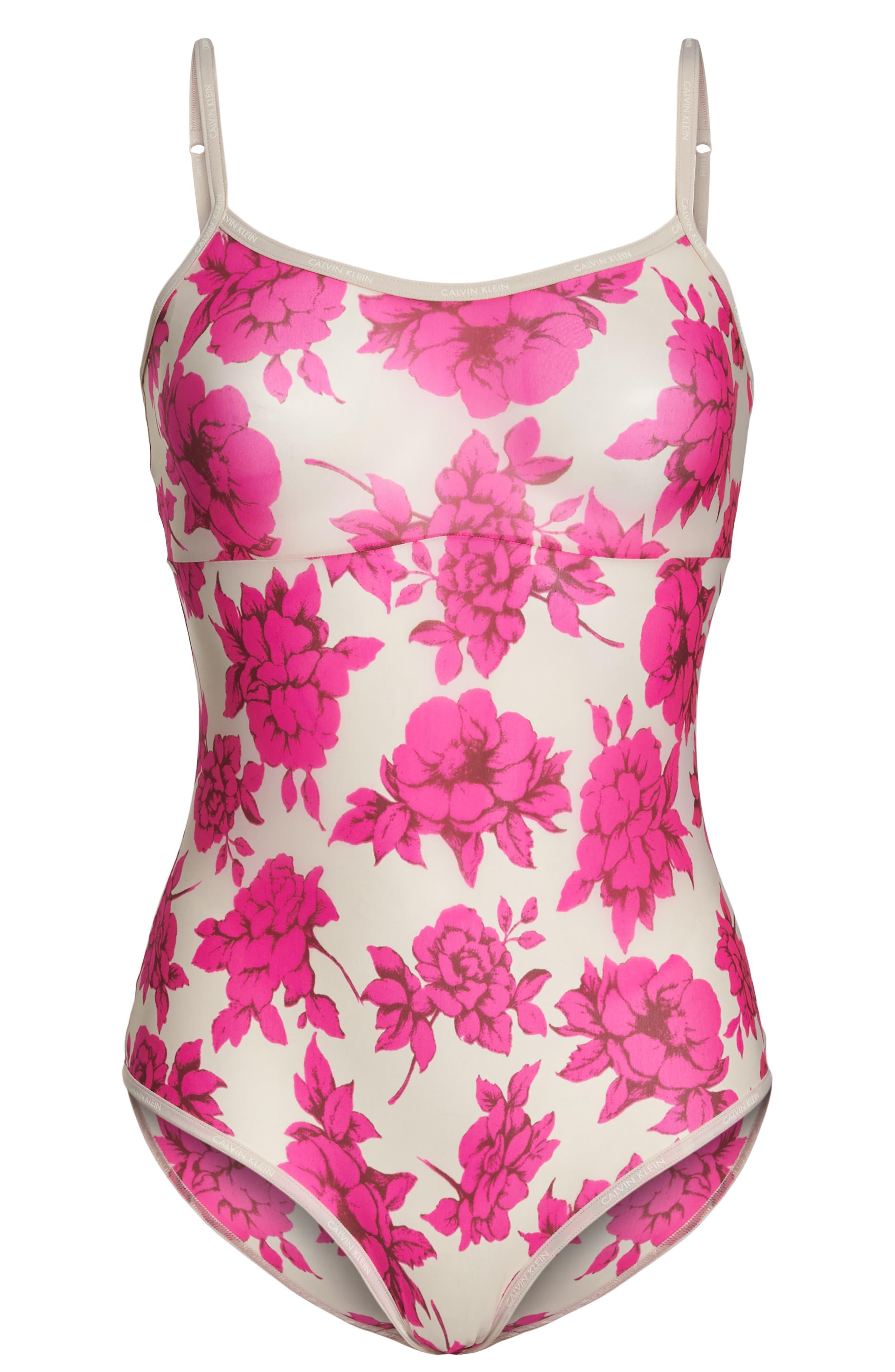 Marquisette Bodysuit,                             Alternate thumbnail 6, color,                             Darling Roses