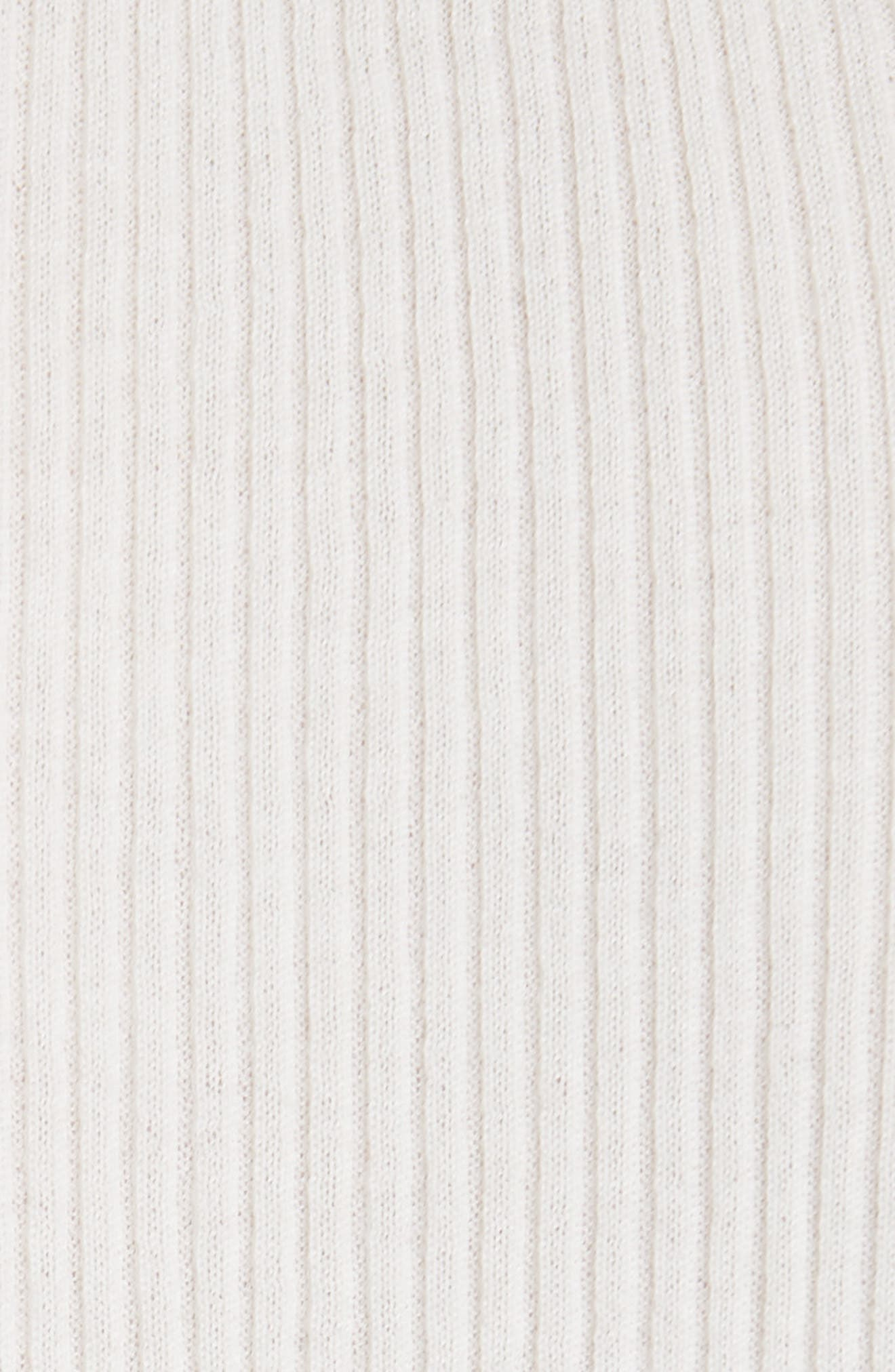 Taylor Ribbed Cashmere Sweater,                             Alternate thumbnail 3, color,                             New Ivory