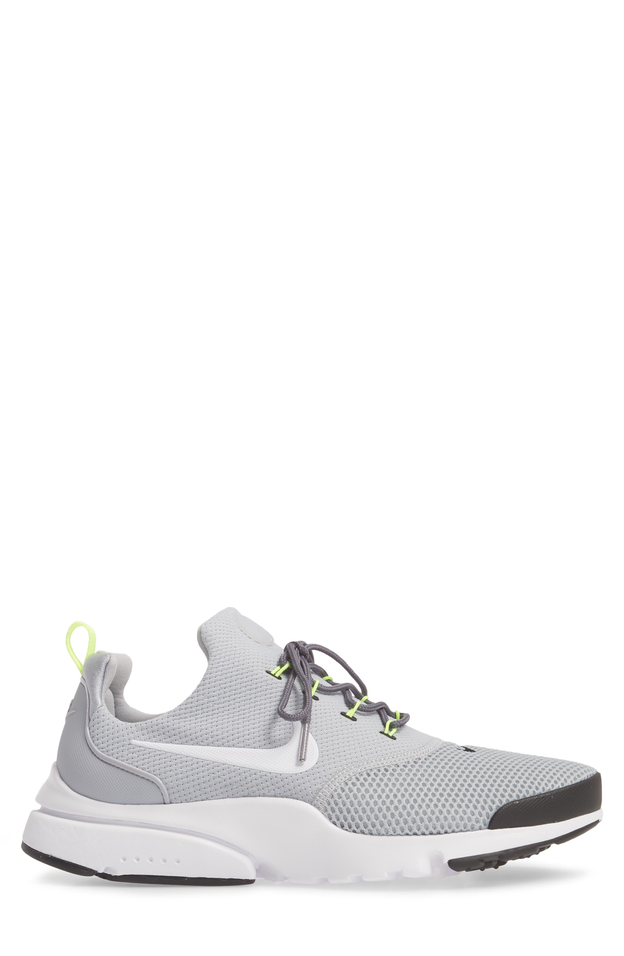 Presto Fly Sneaker,                             Alternate thumbnail 3, color,                             Wolf Grey/ White/ Volt