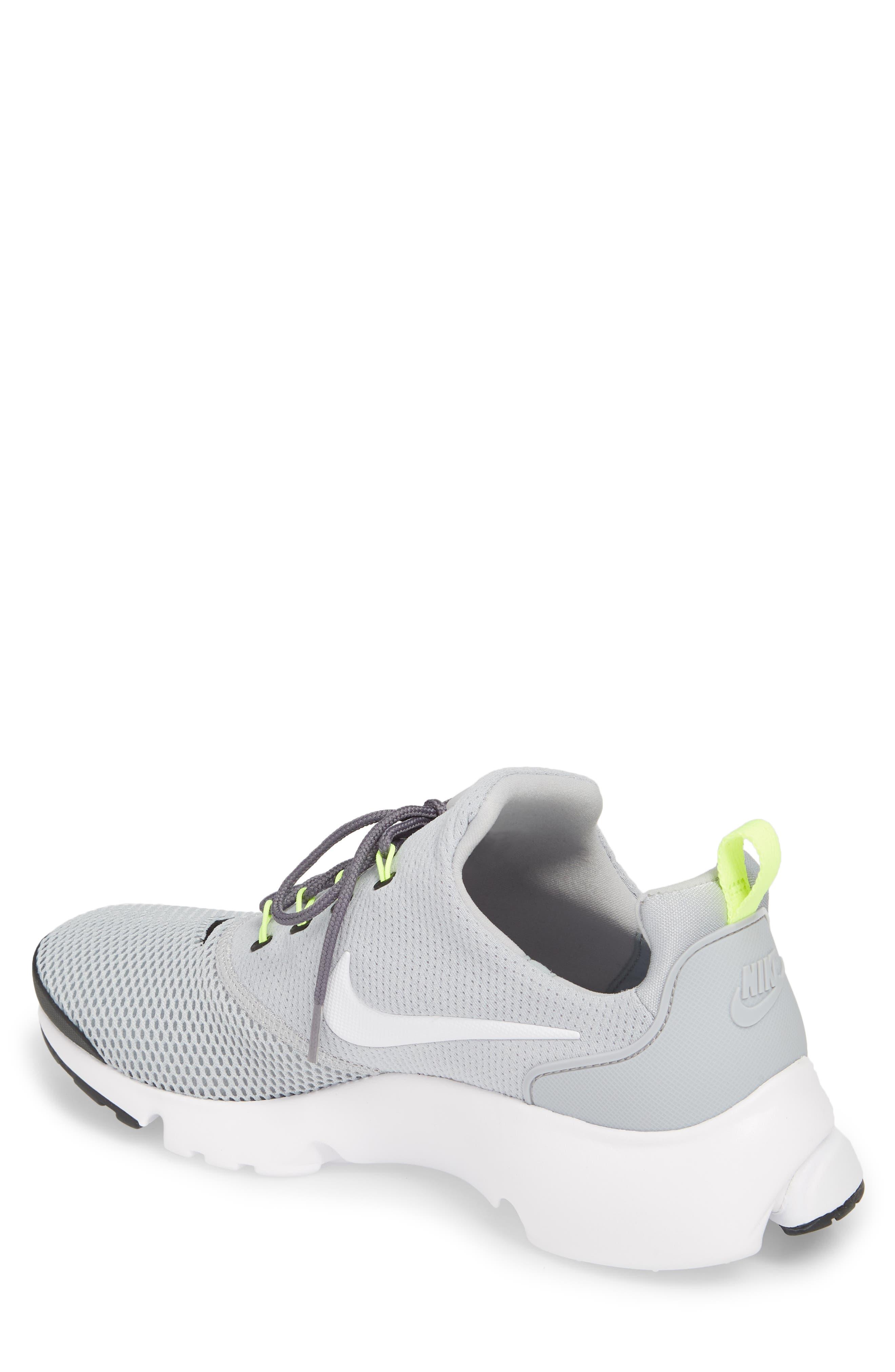 Presto Fly Sneaker,                             Alternate thumbnail 2, color,                             Wolf Grey/ White/ Volt