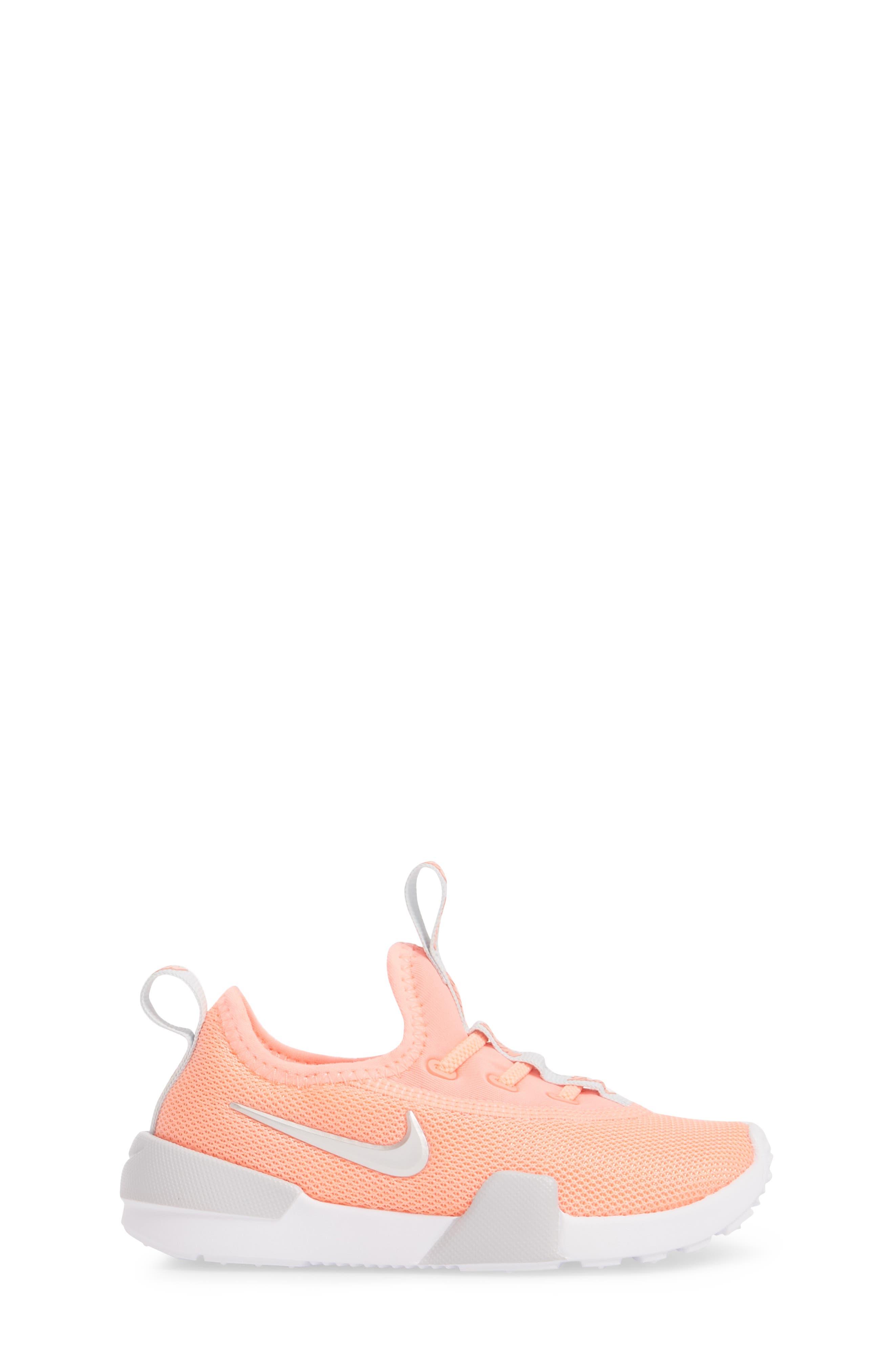 Ashin Modern Sock Knit Sneaker,                             Alternate thumbnail 3, color,                             Atomic Pink/ Metallic Silver