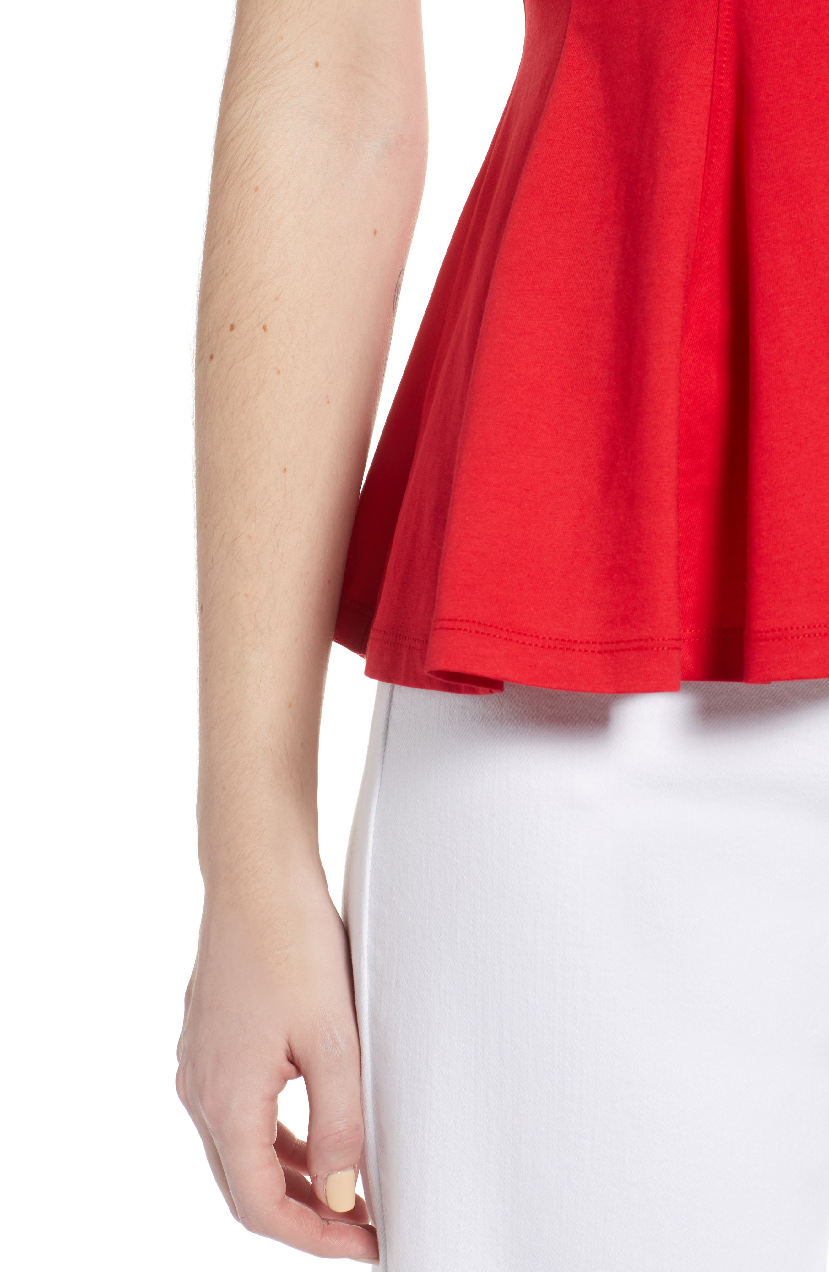 Swing Tee,                             Alternate thumbnail 4, color,                             Red Lipstick
