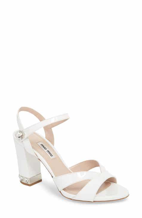 2404a4bd564b Miu Miu Jeweled Heel Sandal (Women)