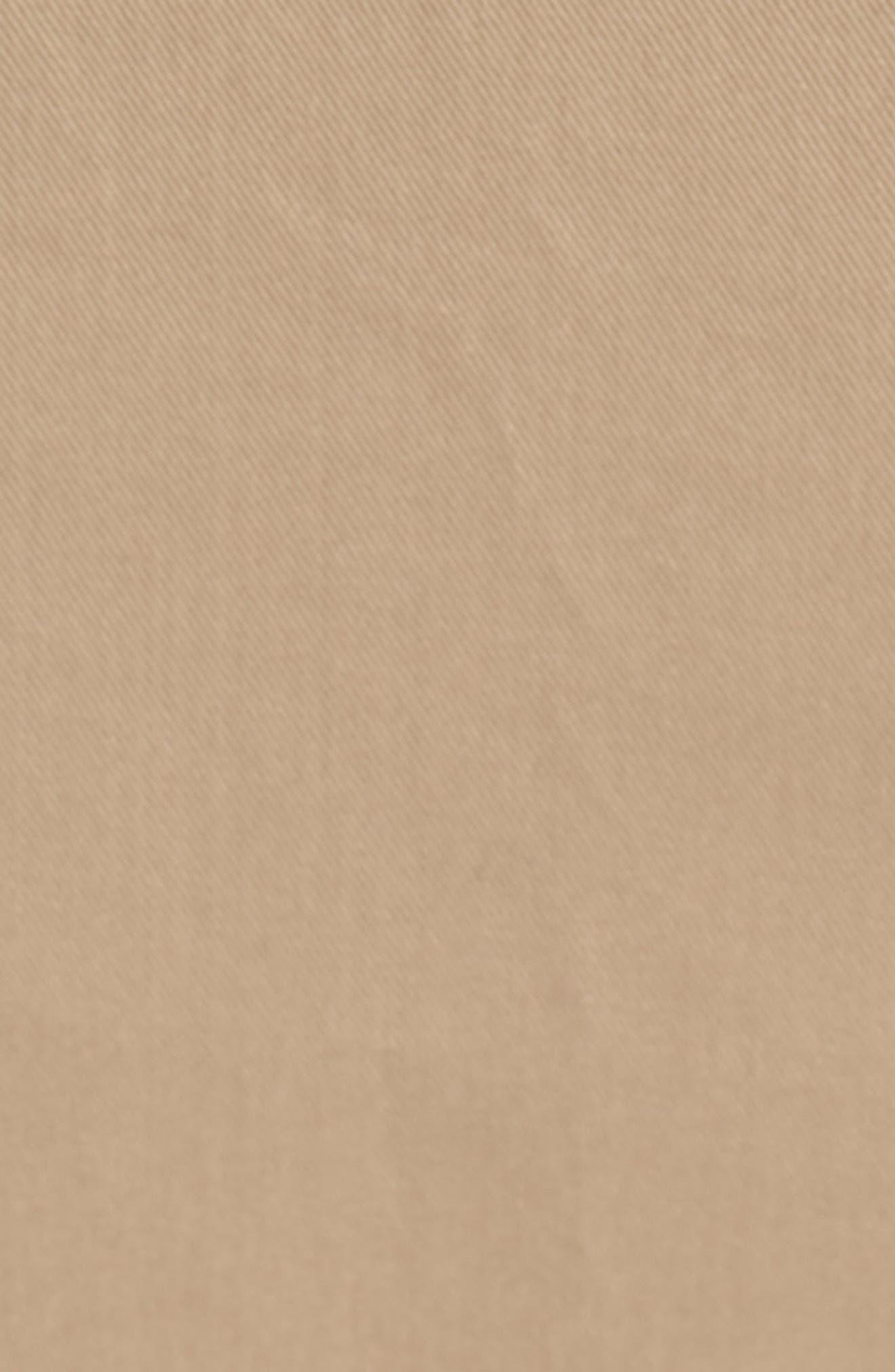 Side Slit Cotton Blend Pencil Skirt,                             Alternate thumbnail 5, color,                             Tan