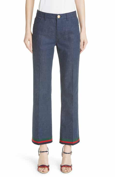 Gucci Rabbit Patch Flare Jeans