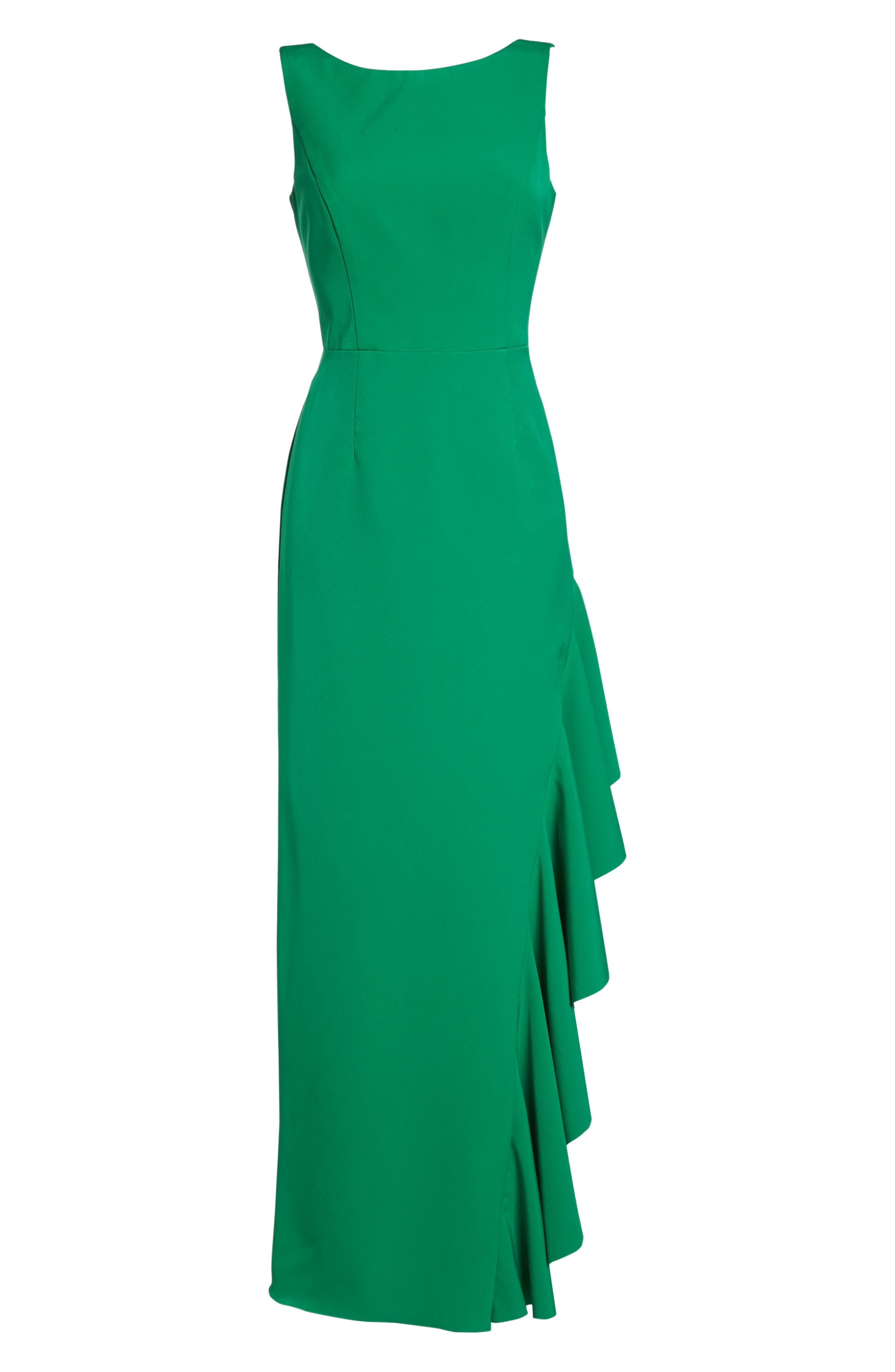 Ruffle Gown,                             Alternate thumbnail 7, color,                             Green